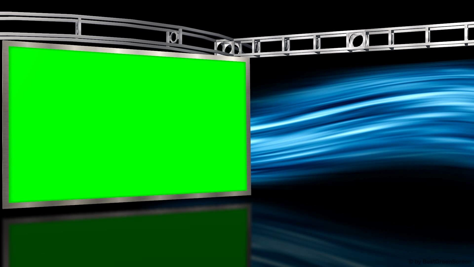 1920x1080 Virtual Studio with Green Screen Wall and motion Background - Free Download  Link - YouTube