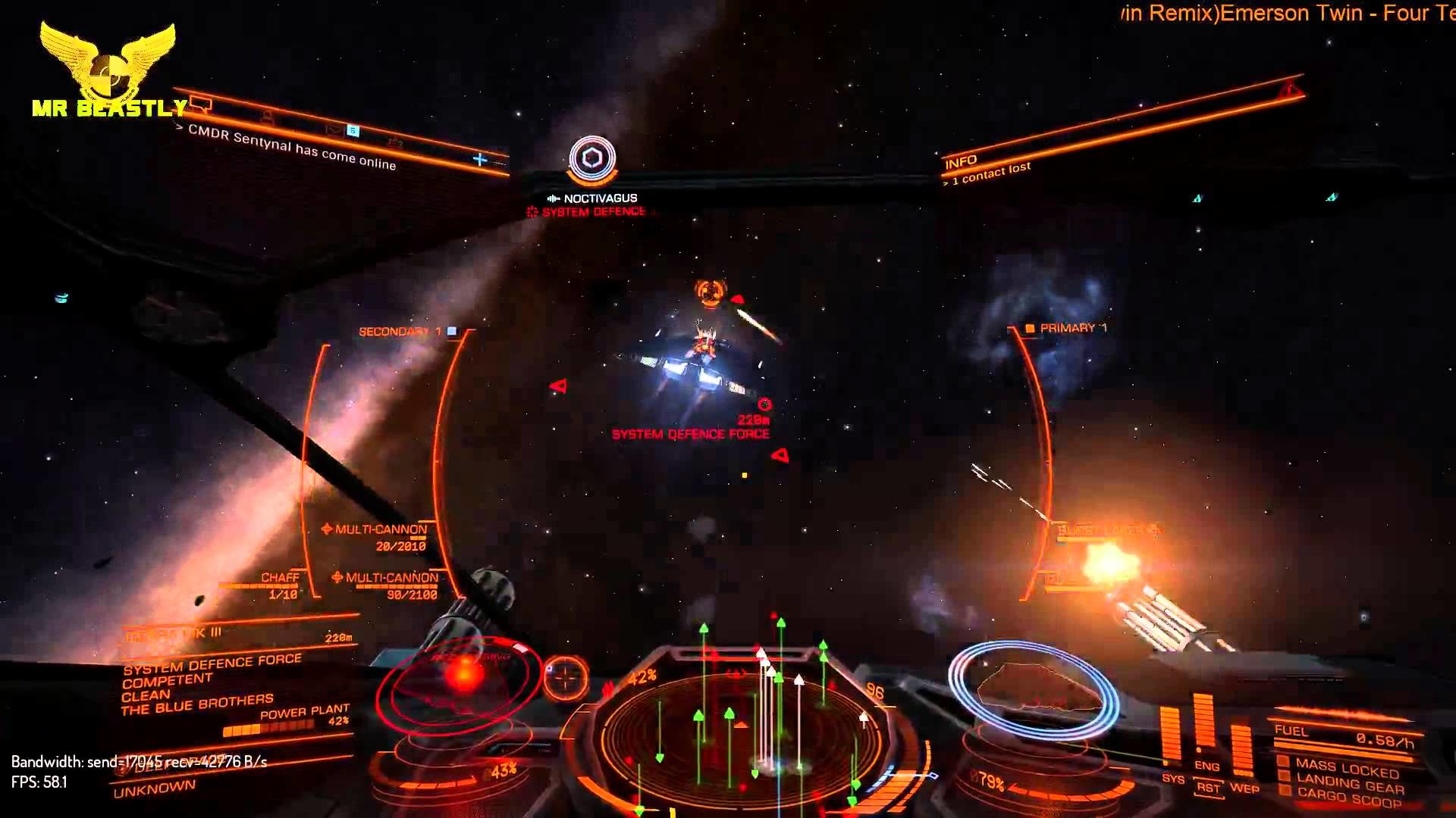 1920x1080 Elite: Dangerous v1.2 in 4K (streaming in 1080p) Testing WIngs with CMDR  Noctivagus!