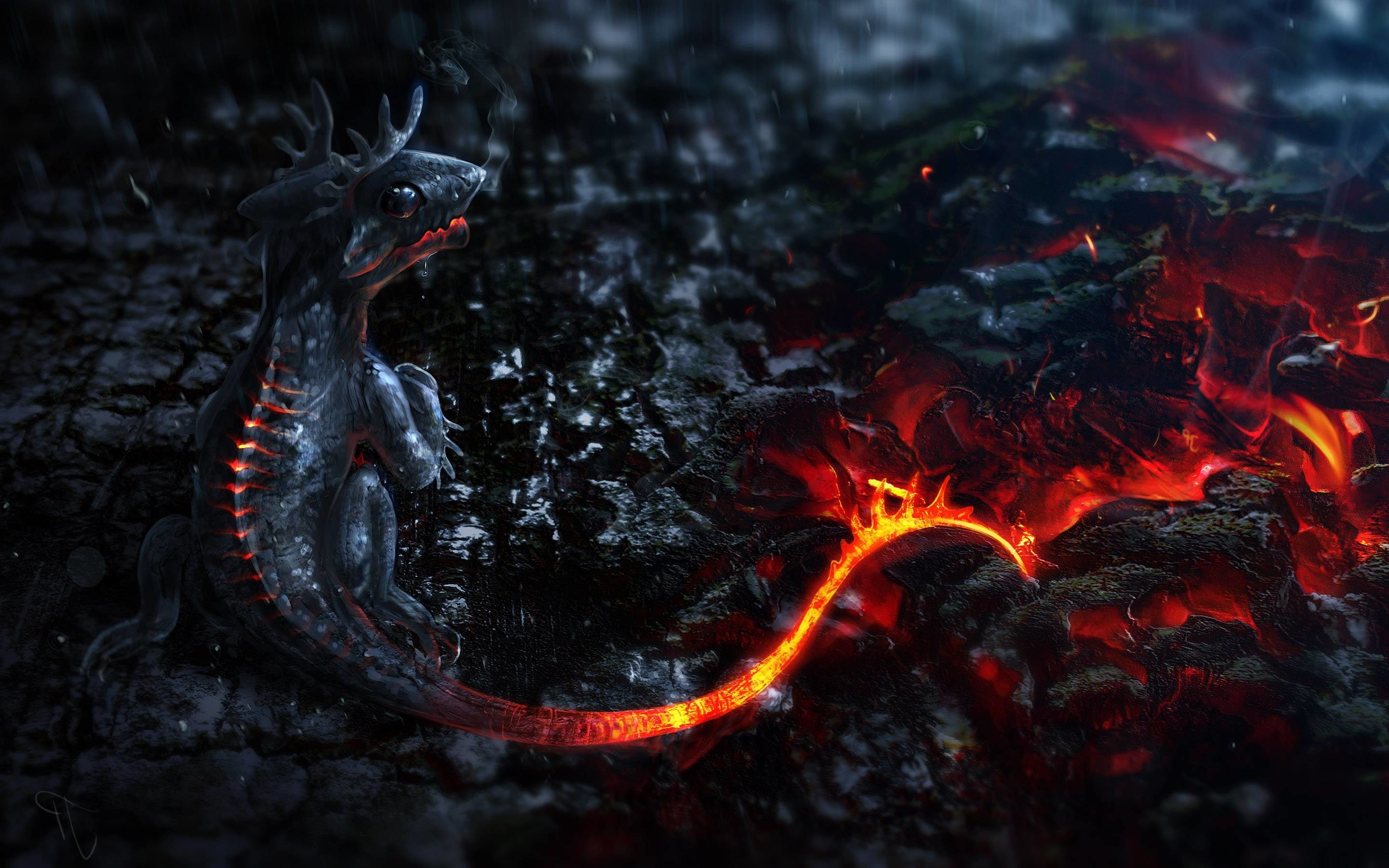 2880x1800 Wallpapers For > Awesome Fire Dragon Wallpapers