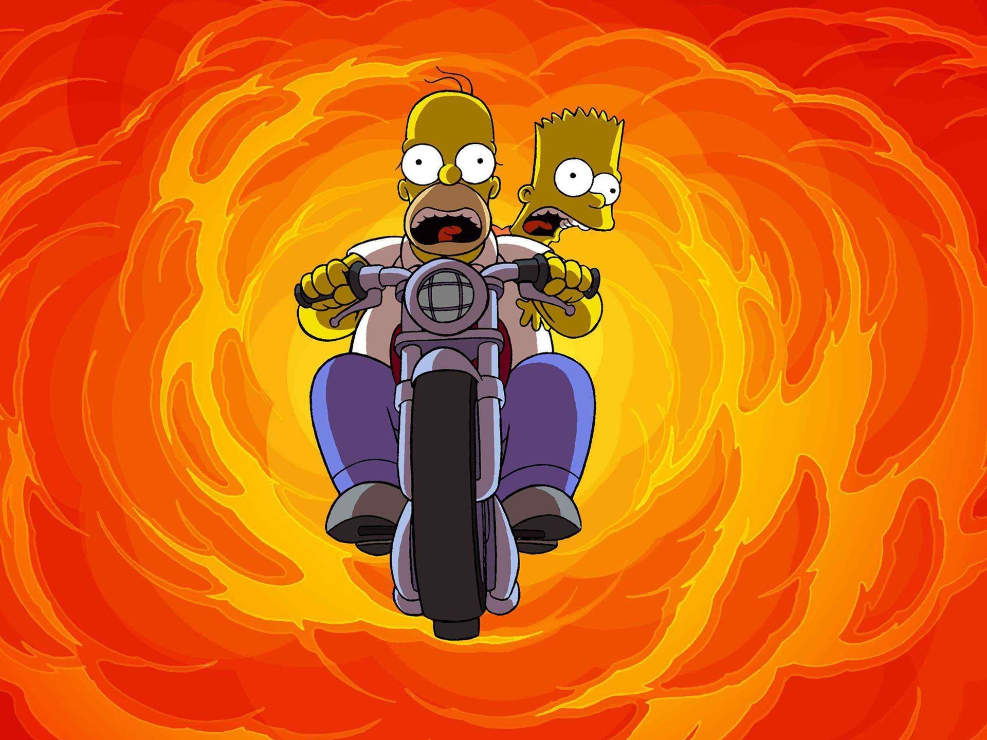 1920x1440 TV Show - The Simpsons Bart Simpson Homer Simpson Wallpaper