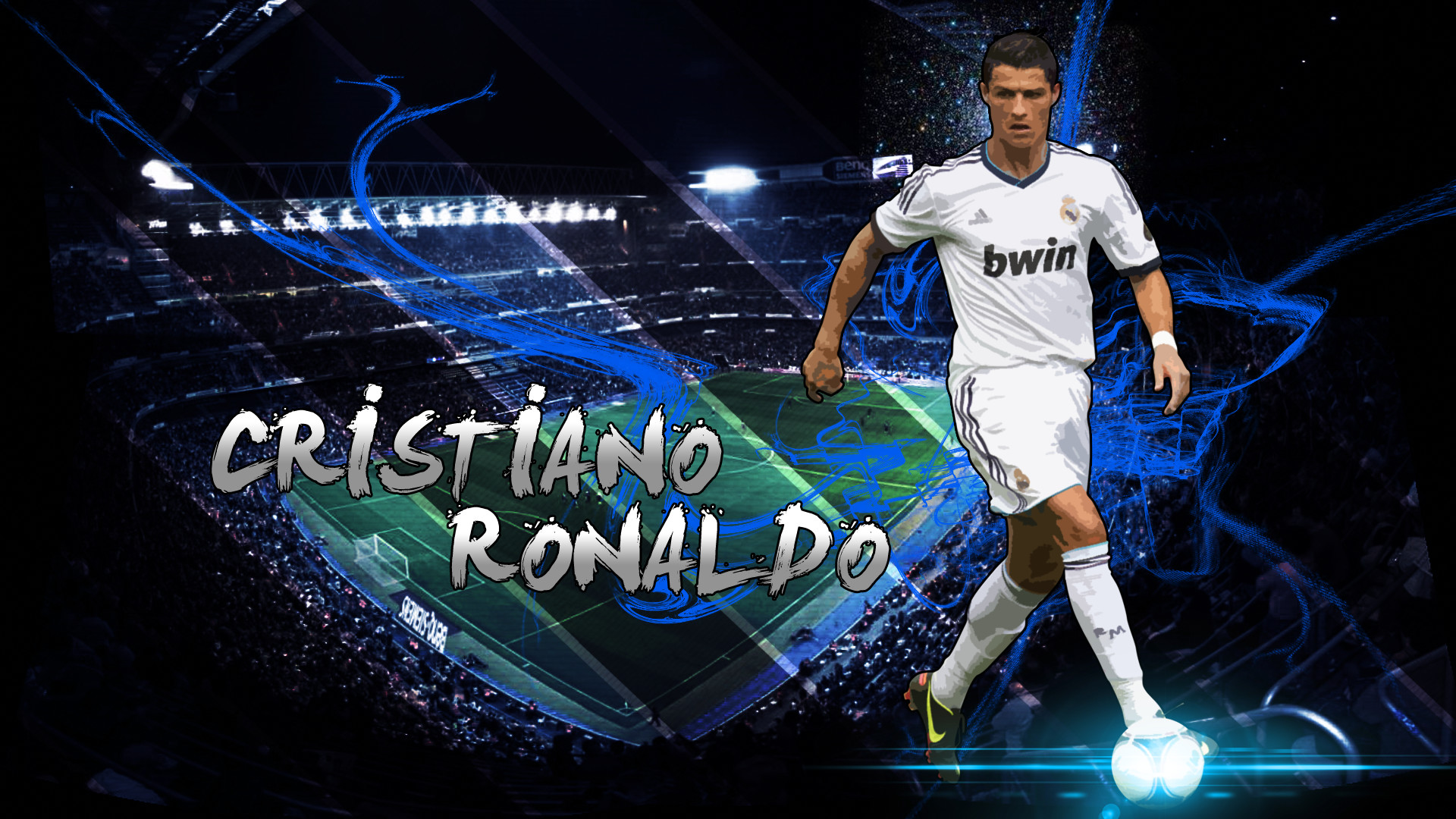 1920x1080 Cristiano Ronaldo, Cr7, Football Player, Real Madrid, Jersey, King, Stadium  Wallpaper HD
