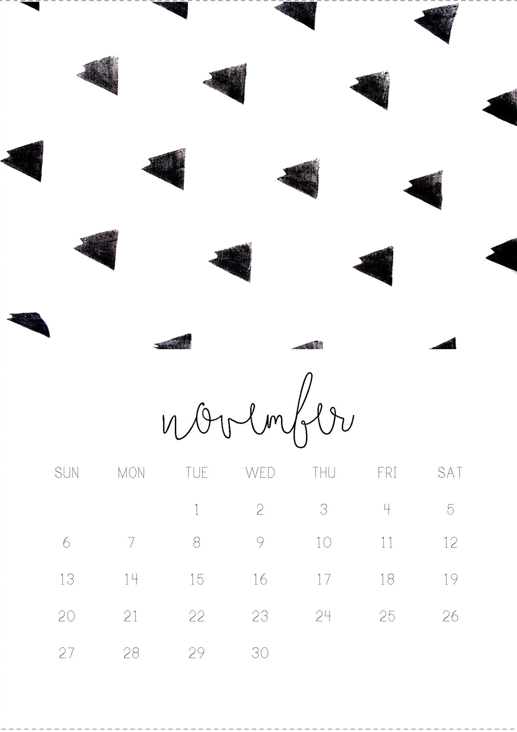 1754x2480 11/12 November monthly 2016 calendar printable, collage digital design by  Gisela Titania. Wallpaper ...