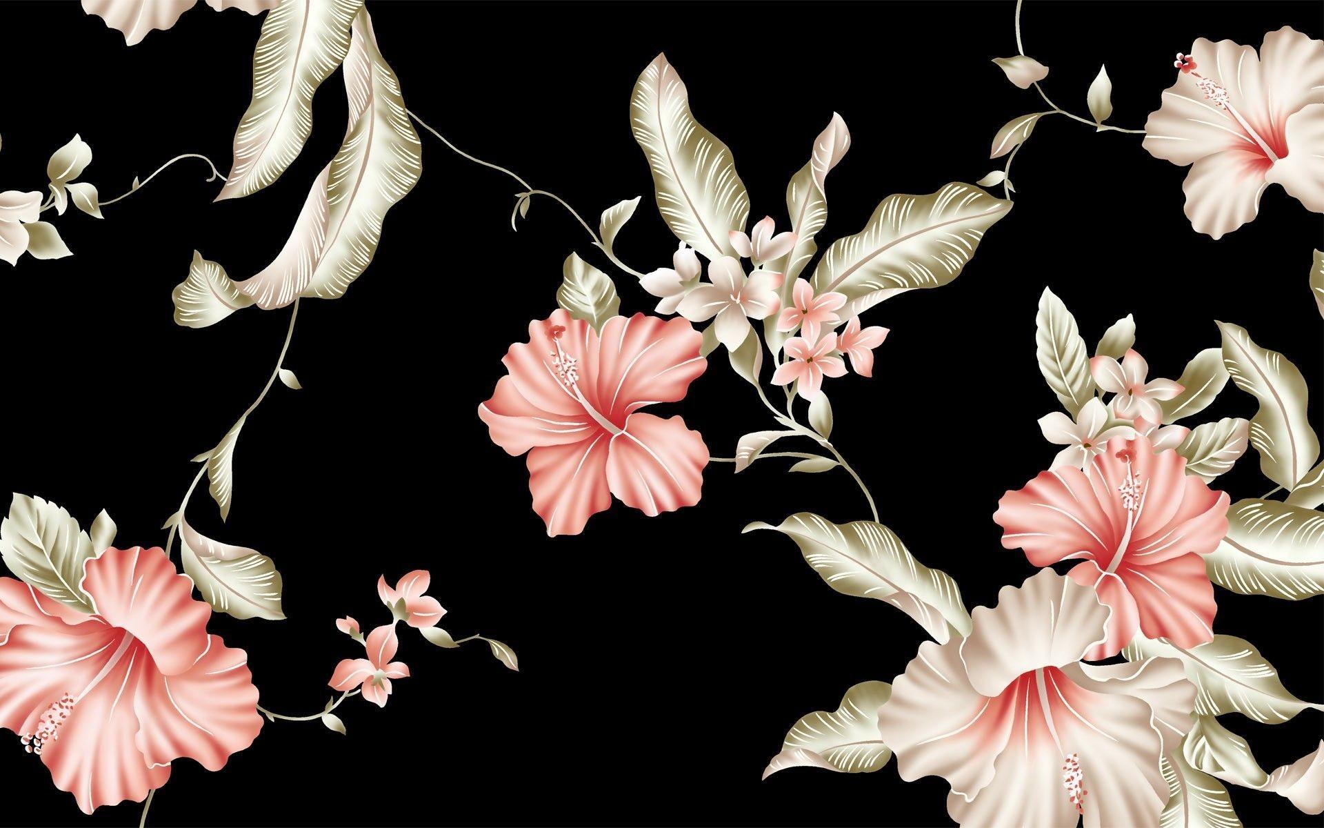 pink flower wallpaper background (55+ images)