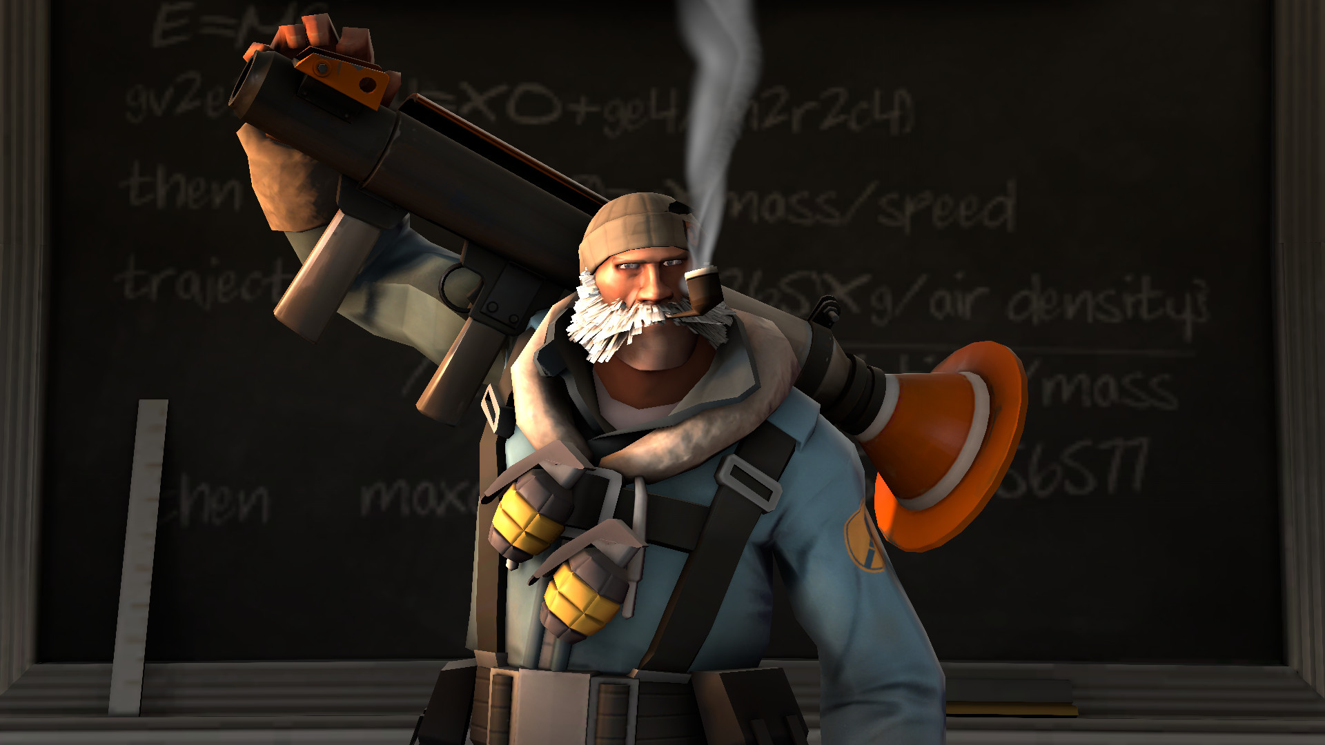 1920x1080 ... Self portrait of my Soldier loadout in TF2 by Robot11