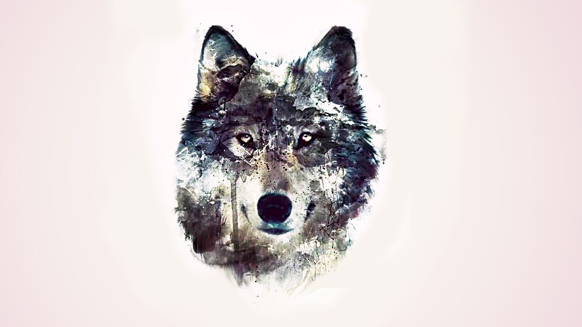 1920x1080 pin Drawn wallpaper wolf #1