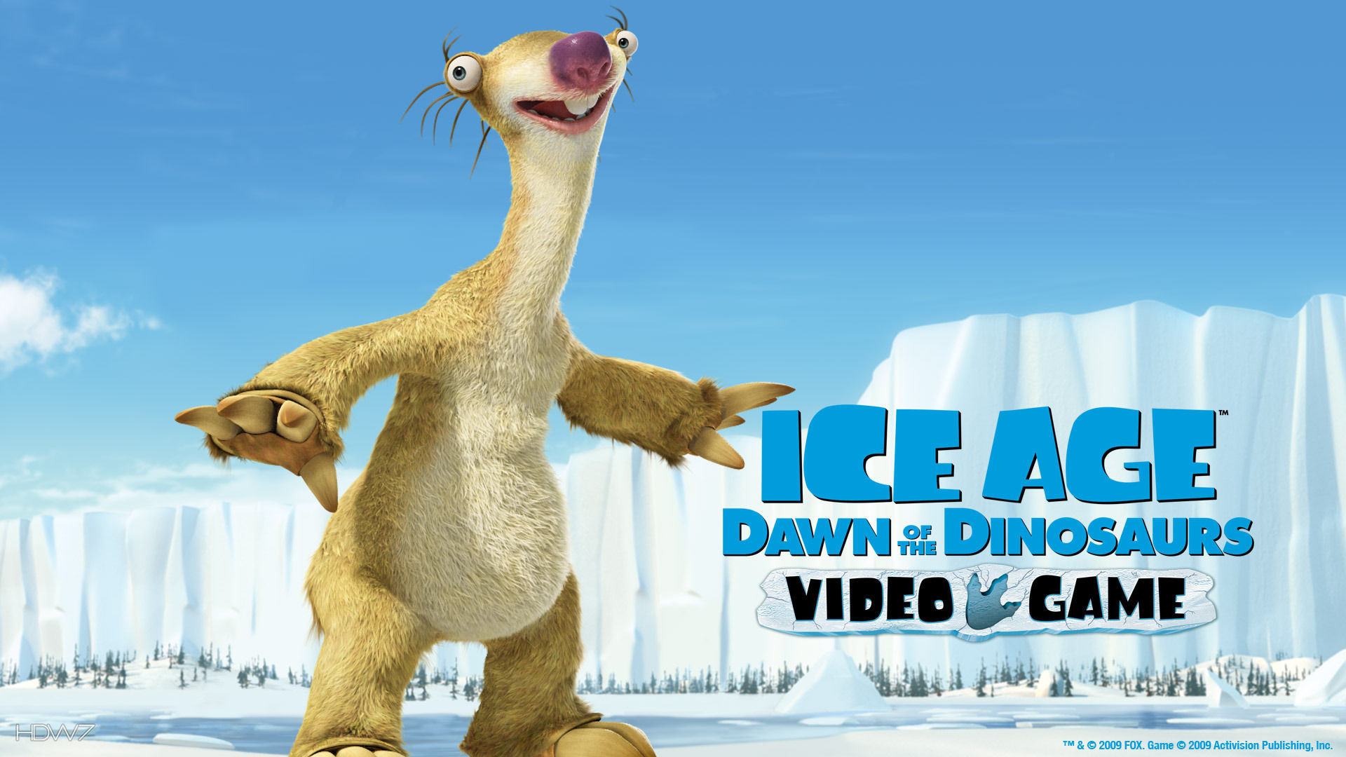 1920x1080 ice age dawn of the dinosaurs sid the sloth widescreen hd wallpaper