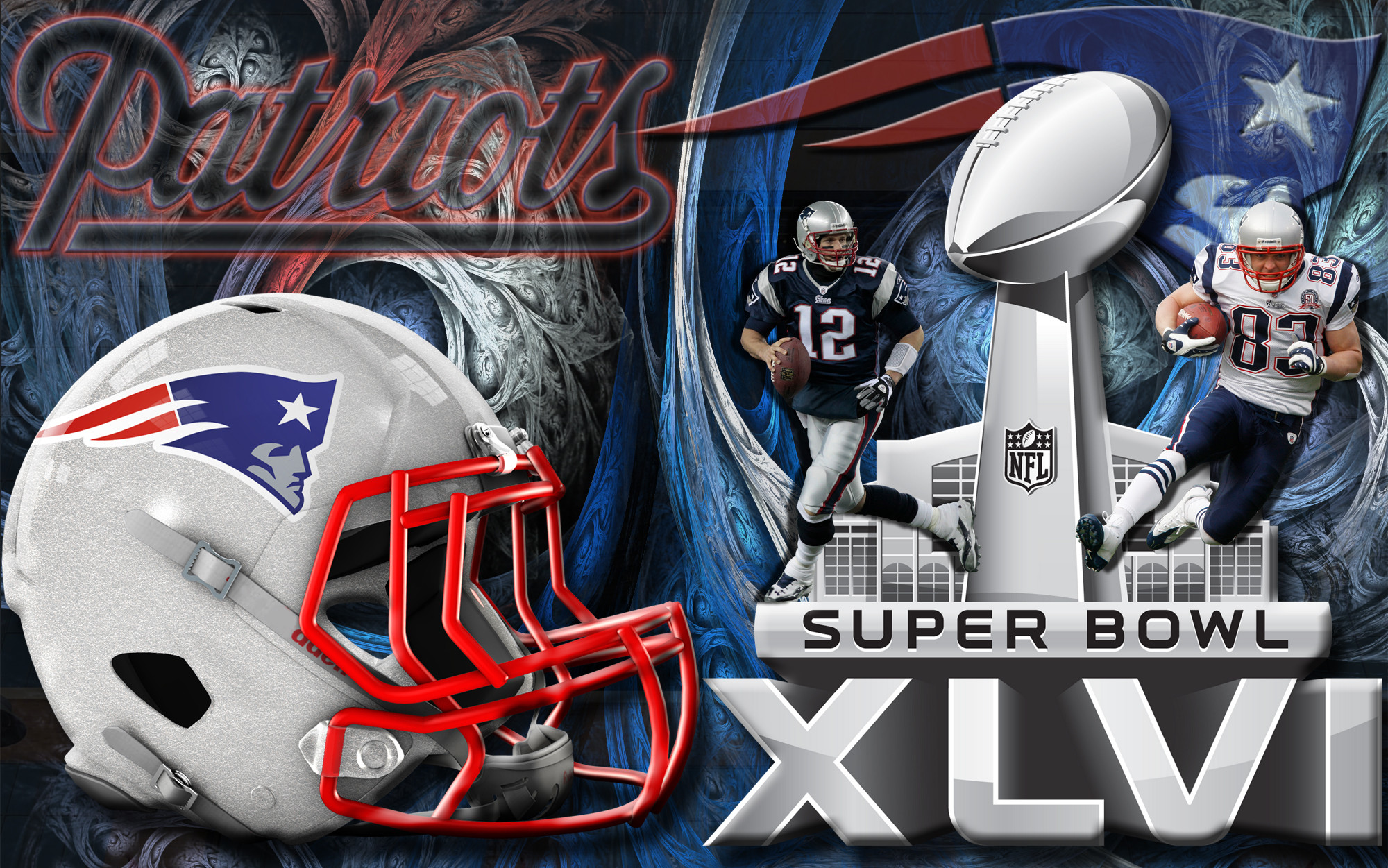 2000x1251 ... 16x10 Widescreen New England Patriots Super Bowl XLVI Wallpaper ...