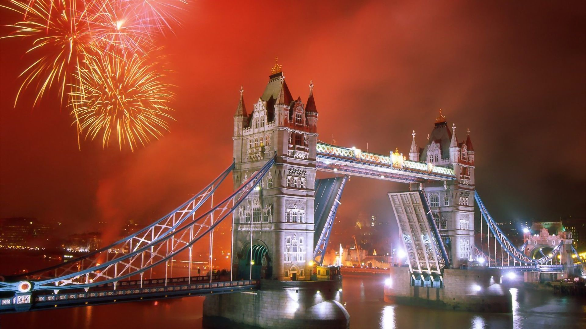 1920x1080 Tower Bridge Fireworks 4th of July HD Wallpaper. « »