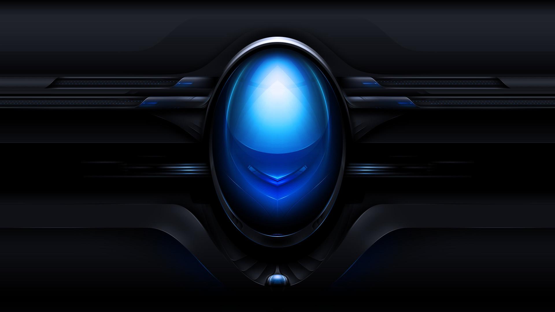 Black And Blue Tech Wallpaper: Alienware Wallpaper 1920x1080 HD (80+ Images