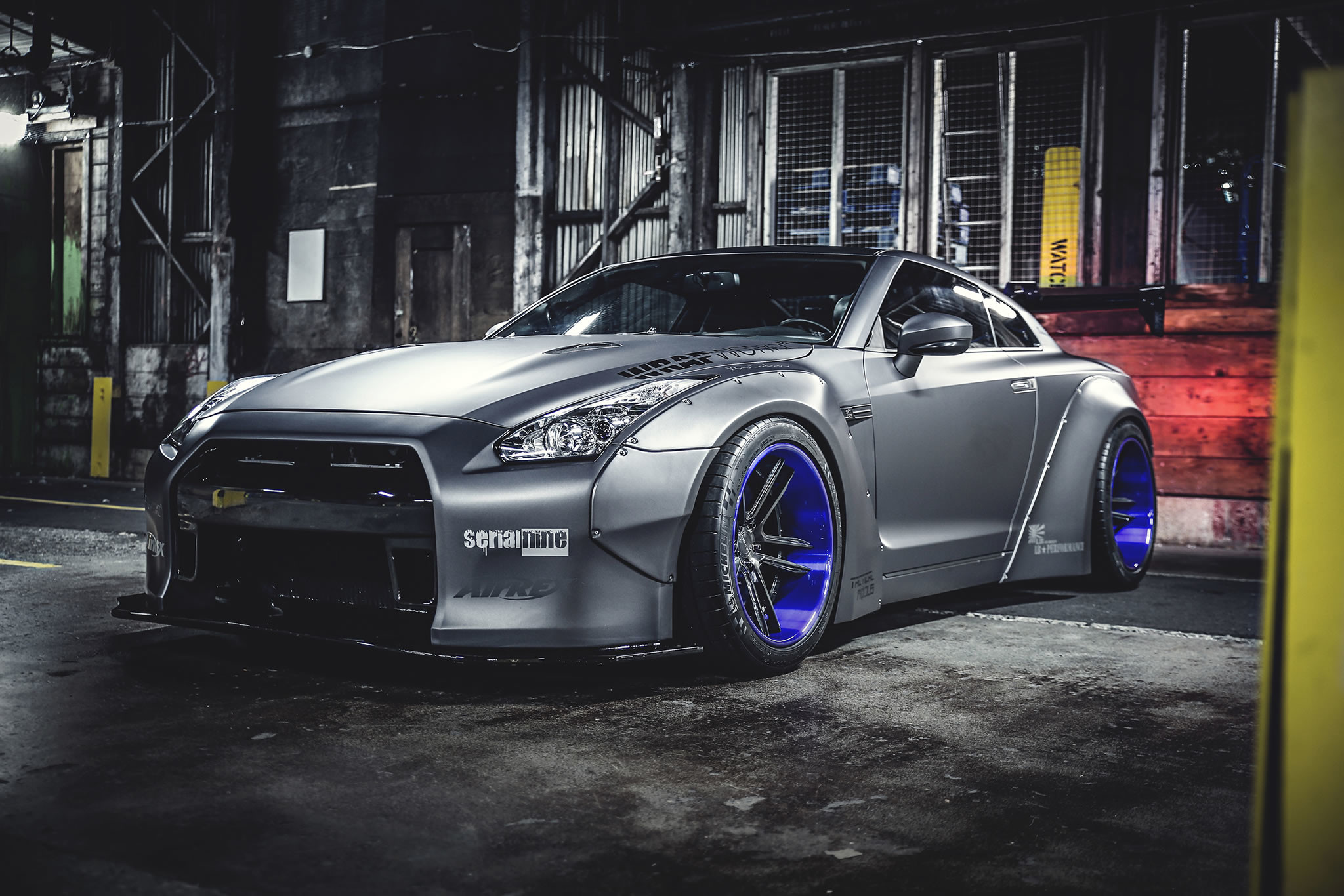 2048x1366 Create Wallpaper. front, AirRex air suspension. 2013 Nissan GT-R by Liberty  Walk ...