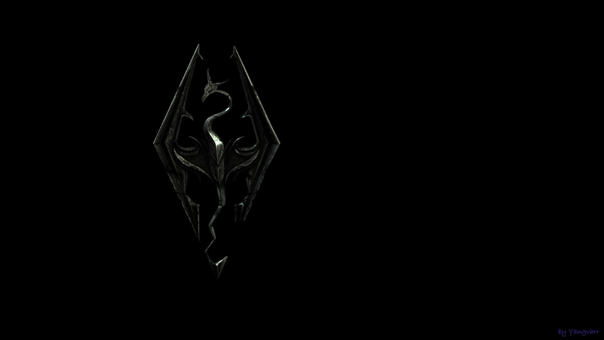 1920x1080 Galleries Related Skyrim Wallpaper Skyrim Logo