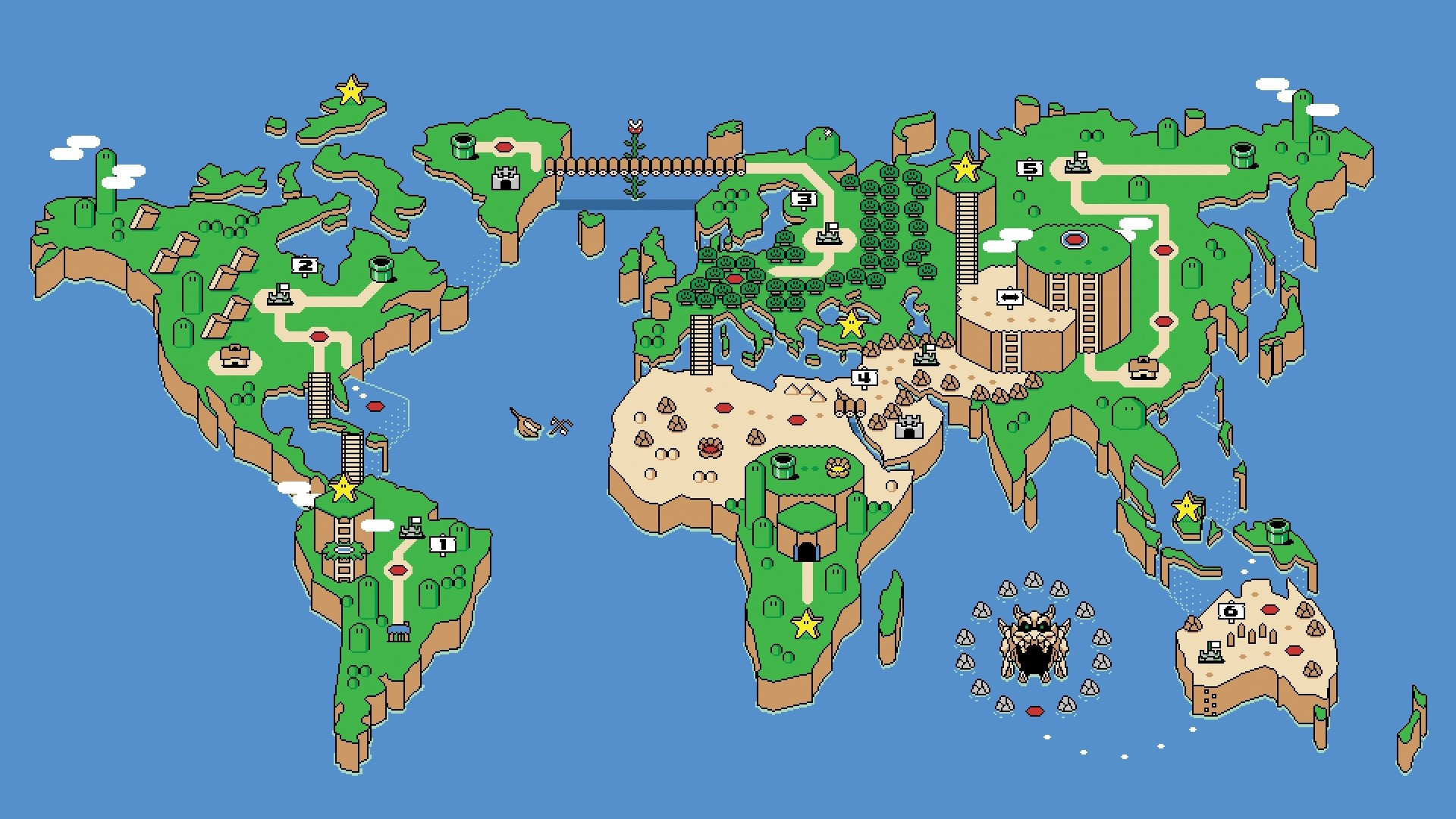 Wallpaper of world map 62 images 1920x1080 super mario world map wallpaper 4703 gumiabroncs Image collections