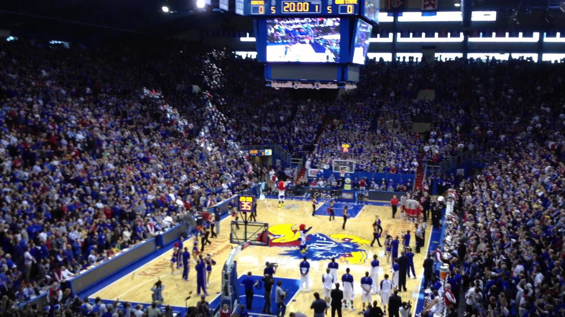 1920x1080 Jayhawks Basketball pre-game vs. Ohio State - YouTube