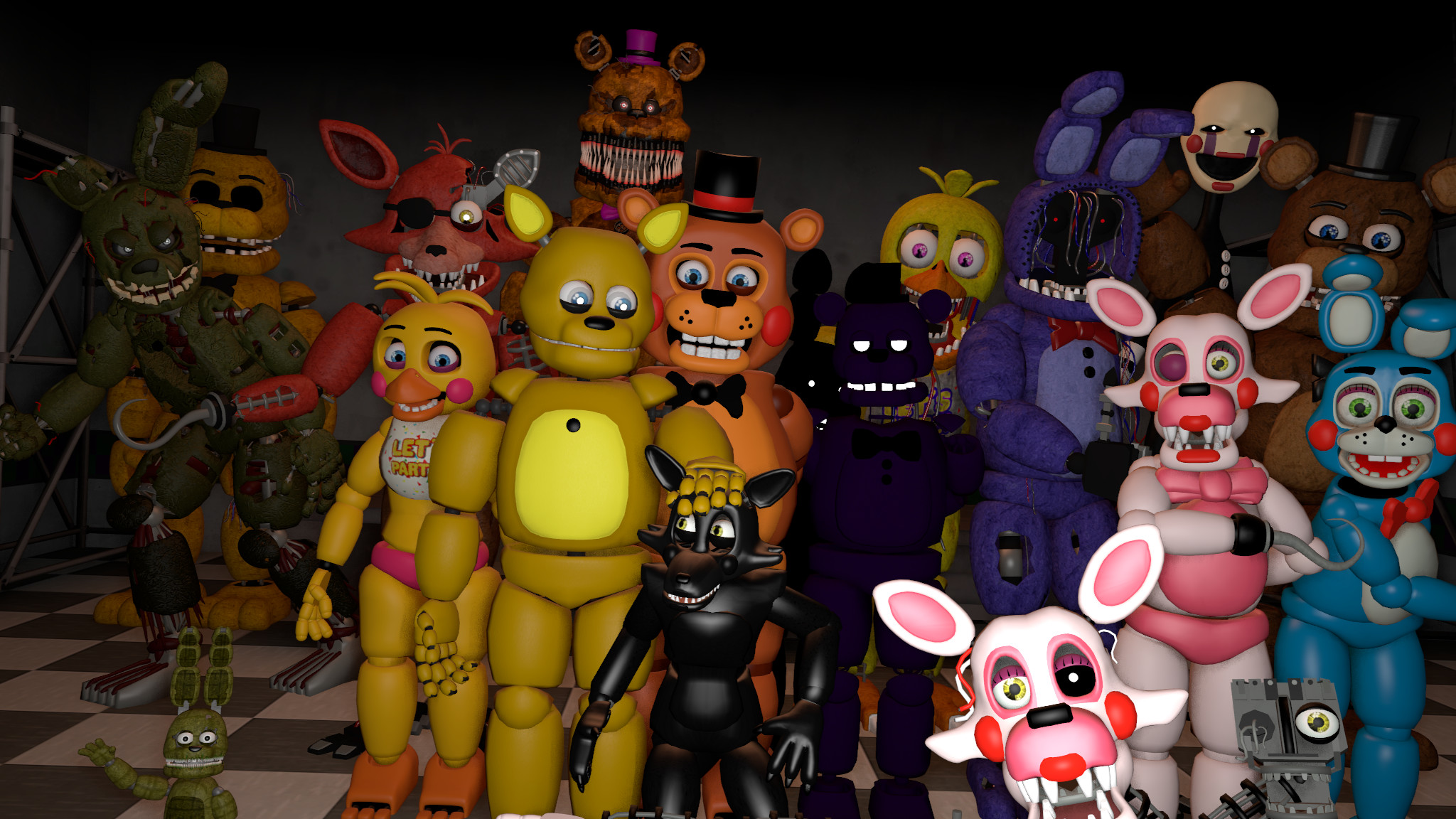 2048x1152 Fnaf Series Season 1 cast by DDolhon on DeviantArt