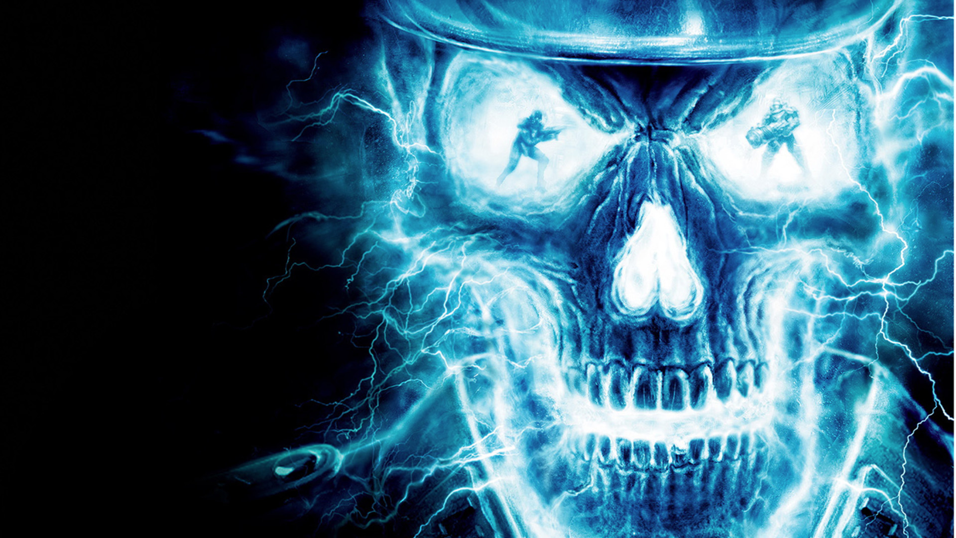 1920x1080 Blue Flaming Skull Nexus [1920 x 1080] Need #iPhone #6S #Plus #Wallpaper/  #Background for #IPhone6SPlus? Follow iPhone 6S Plus 3Wallpapers/ #Backgr…