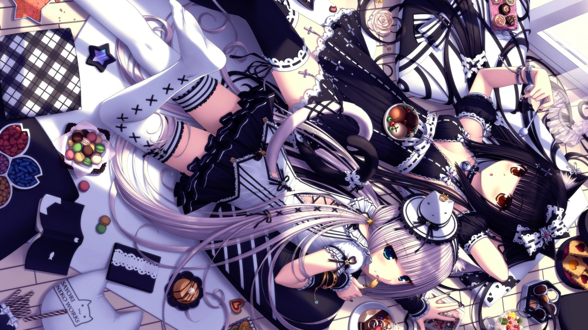 1920x1080 Sayori Neko Wallpaper Works Anime Girls