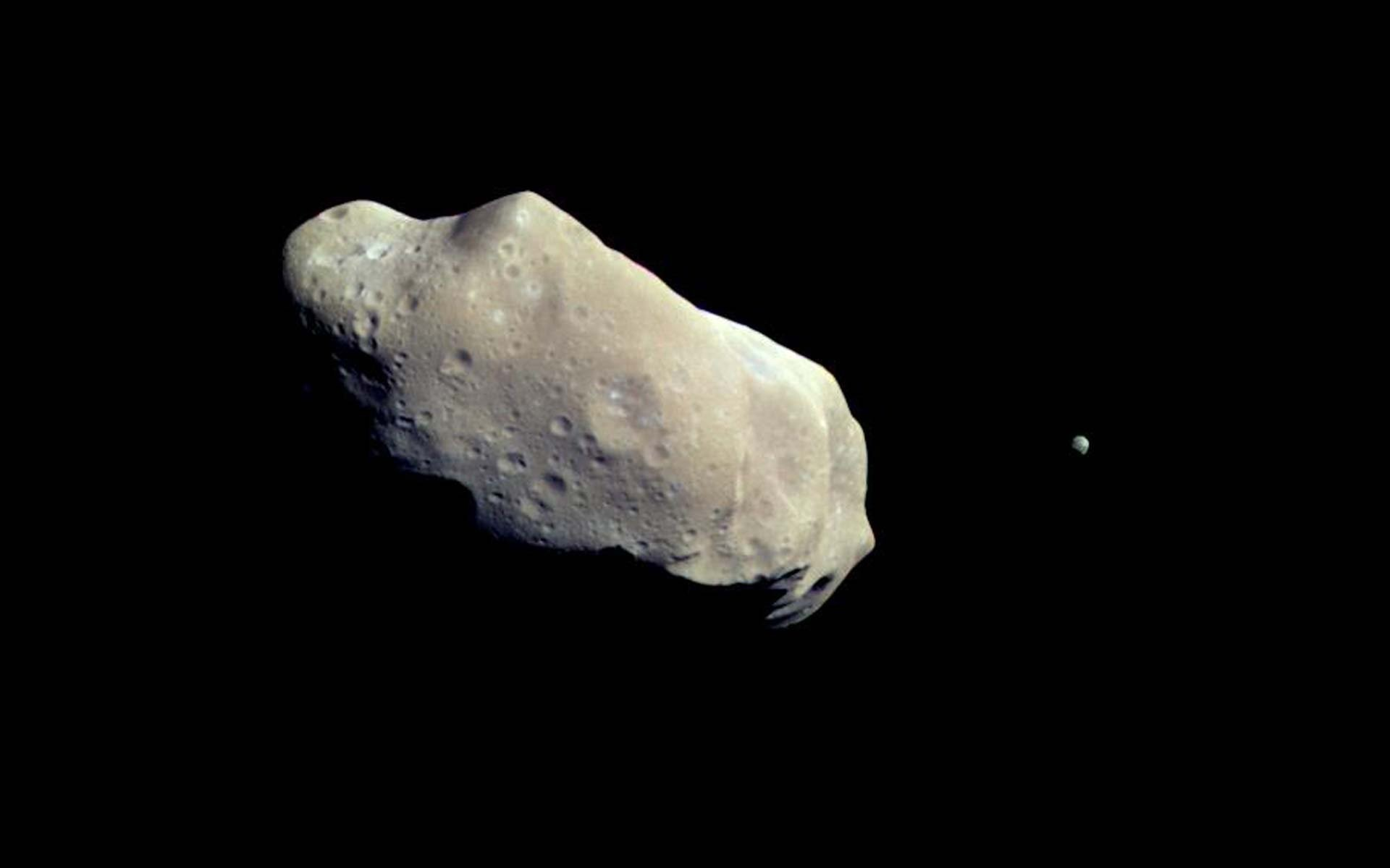 1920x1200 An Asteroid and Its Moon | Space Wallpaper