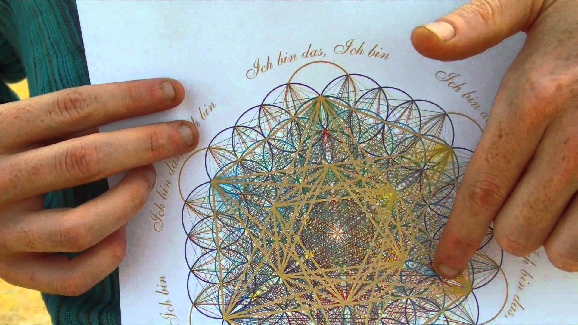 1920x1080 The Flower of Life & Metatron Cube