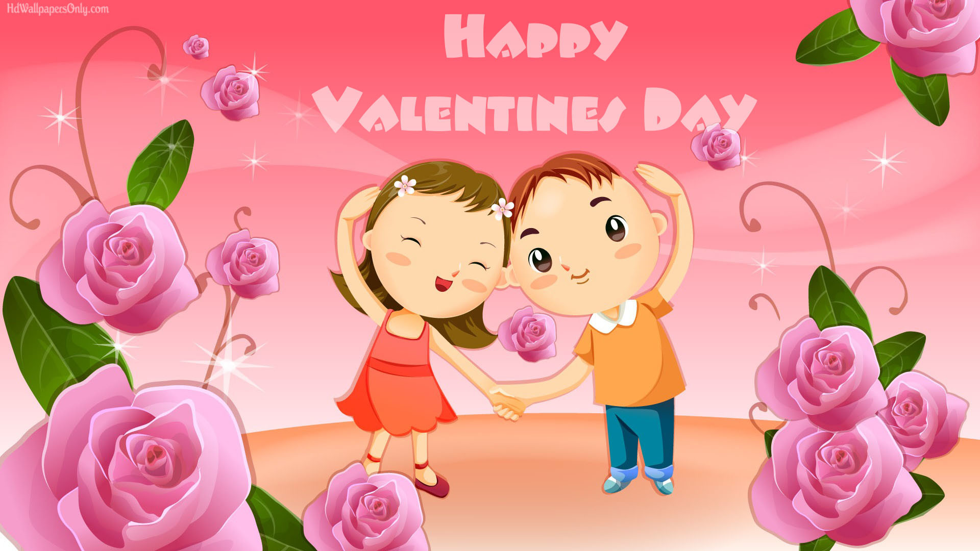 1920x1080 Cute Cartoon Valentine Day 2015 Wallpaper Imag #13269 Wallpaper | High .
