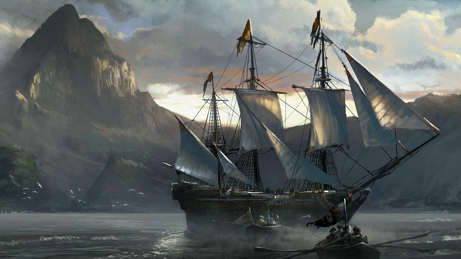 Hd Pirate Ship Wallpaper
