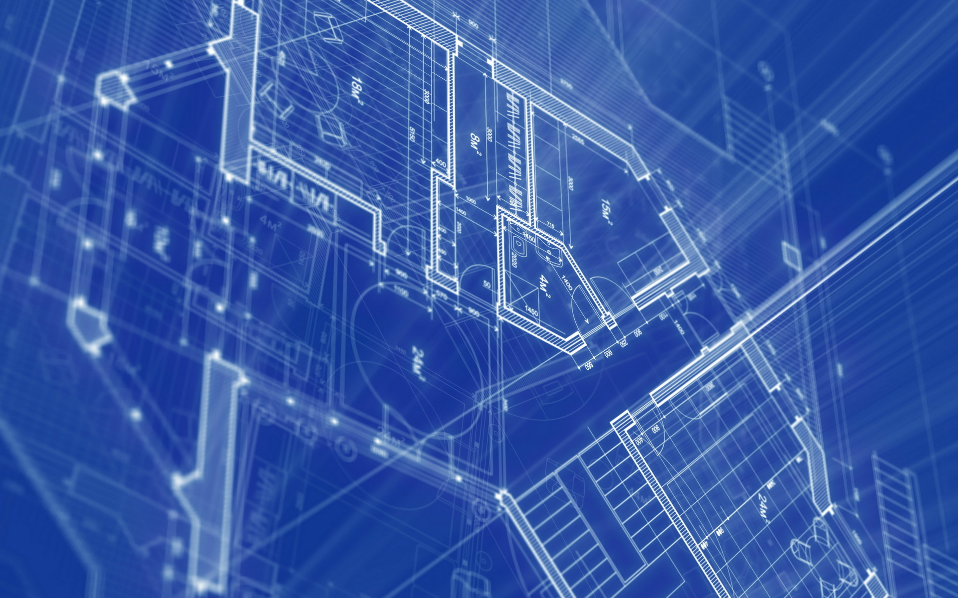 1920x1200 Blueprint Architecture HD Widescreen Desktop Wallpaper