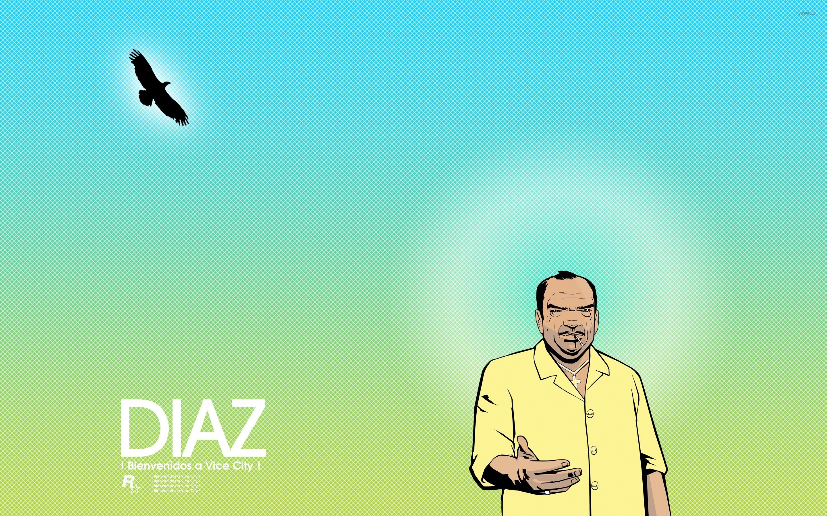 2880x1800 Ricardo Diaz welcoming you to Vice City wallpaper