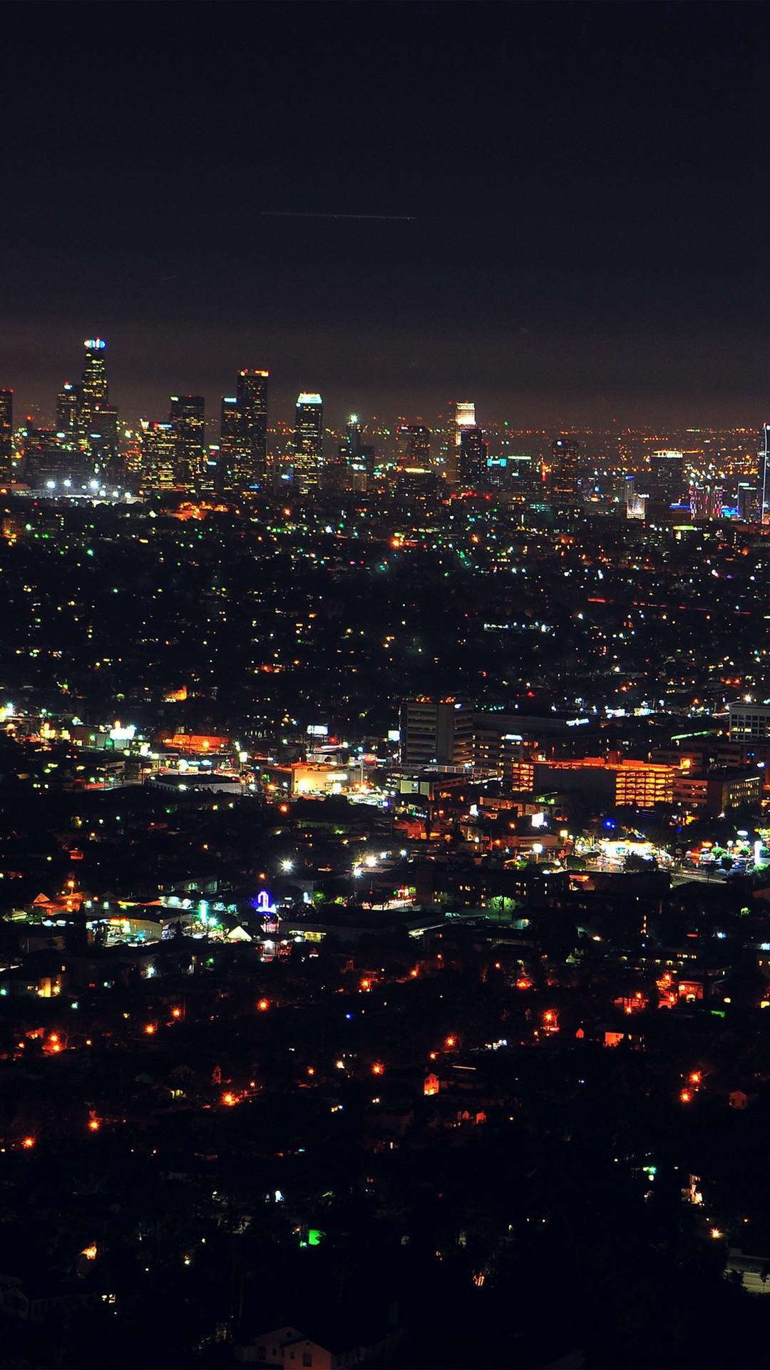 1080x1920 City View Night Light IPhone 6 Wallpaper