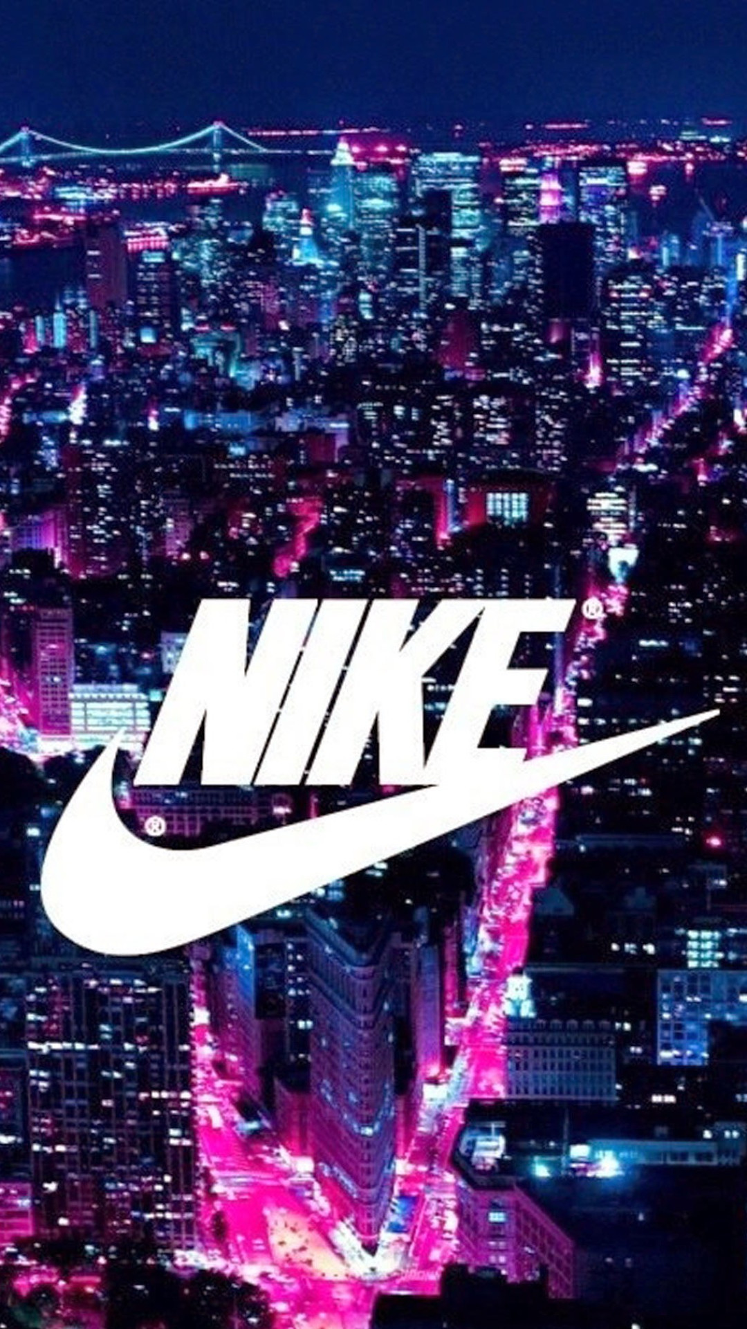 1080x1920 Nike Logo New York City iPhone 6 Plus Wallpaper ()