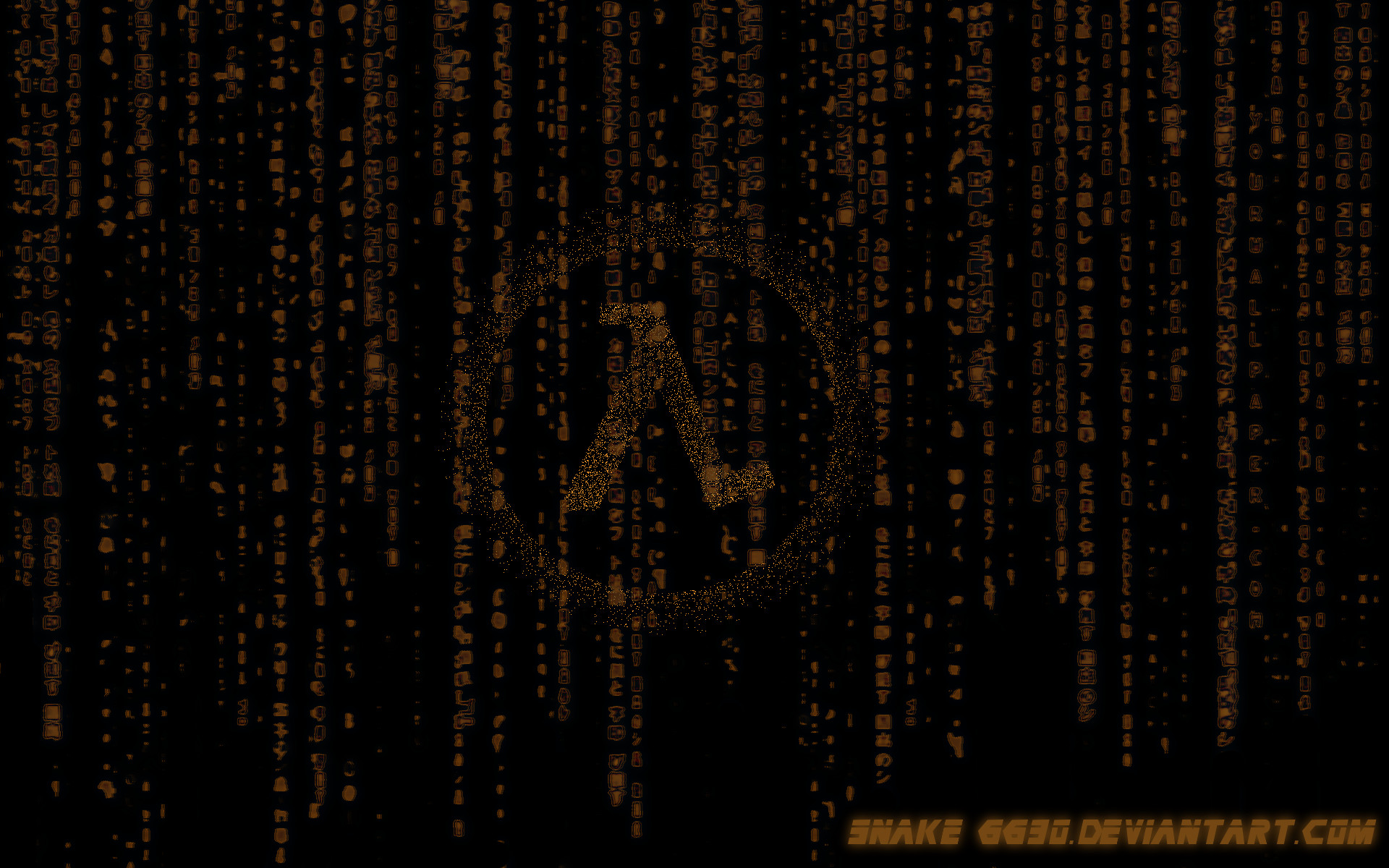 1920x1200 ... half life matrix wallpaper v2 by snake6630