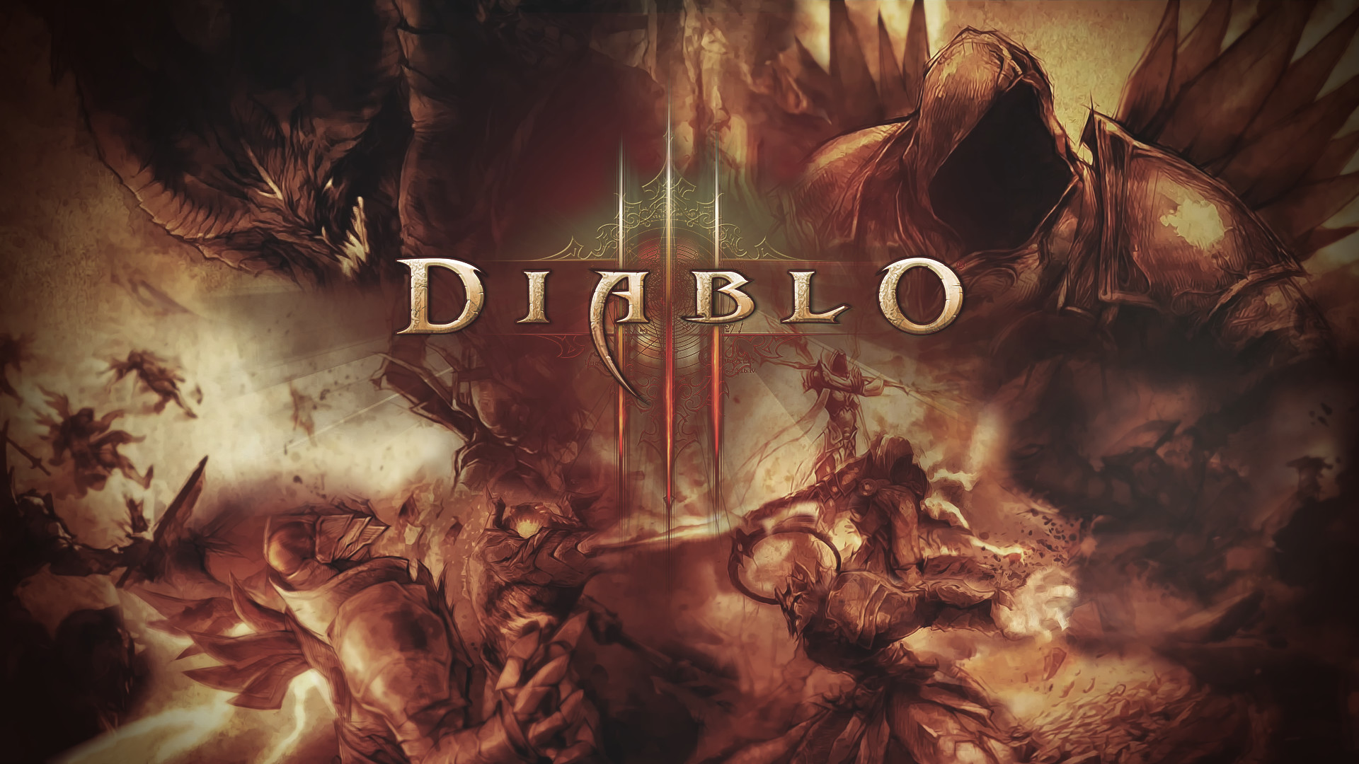 1920x1200 Fantasy Art Diablo III Barbarian Wallpaper HD