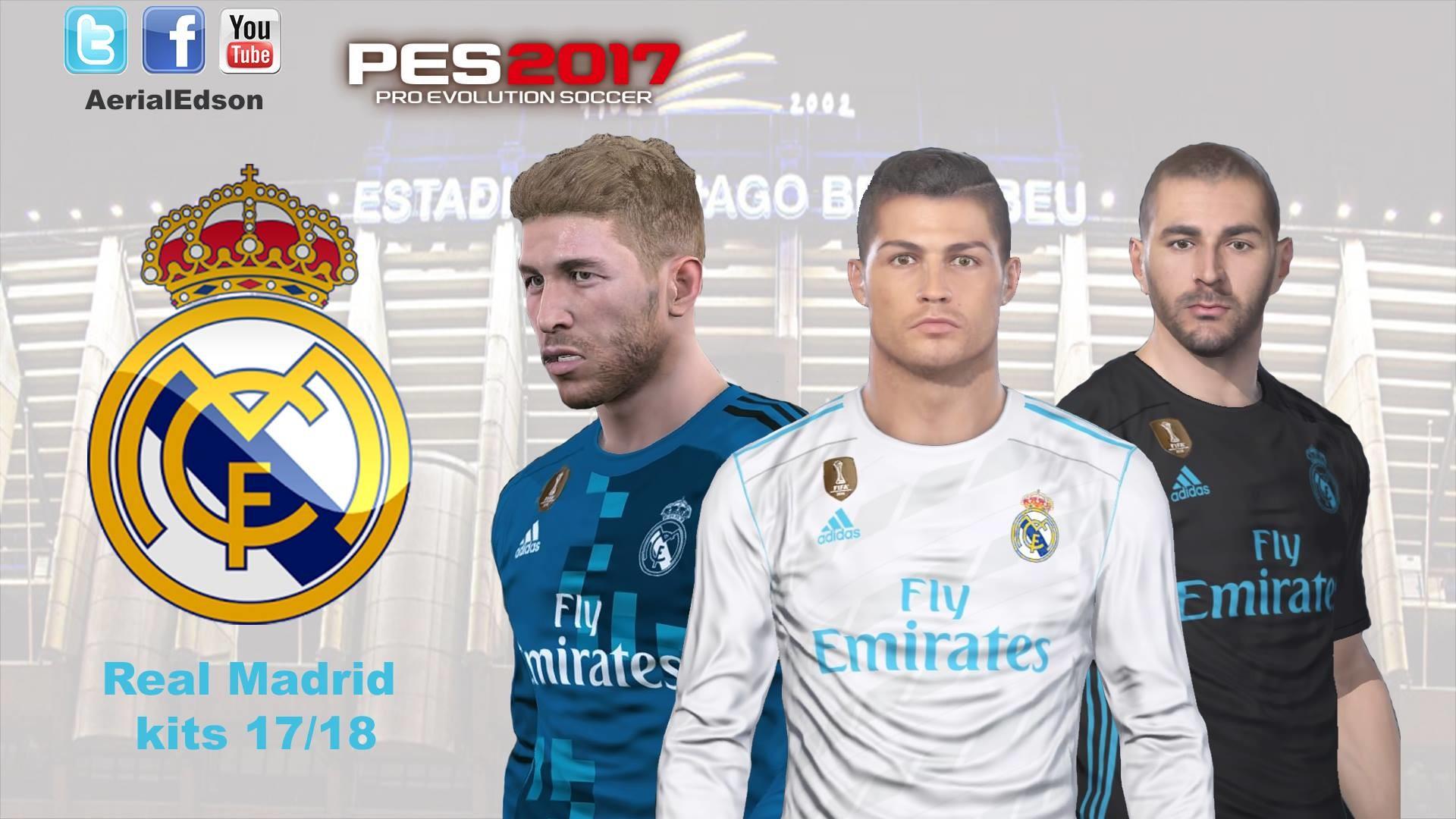1920x1080 Download PES2017 Real Madrid 2017 2018 Kit Pack