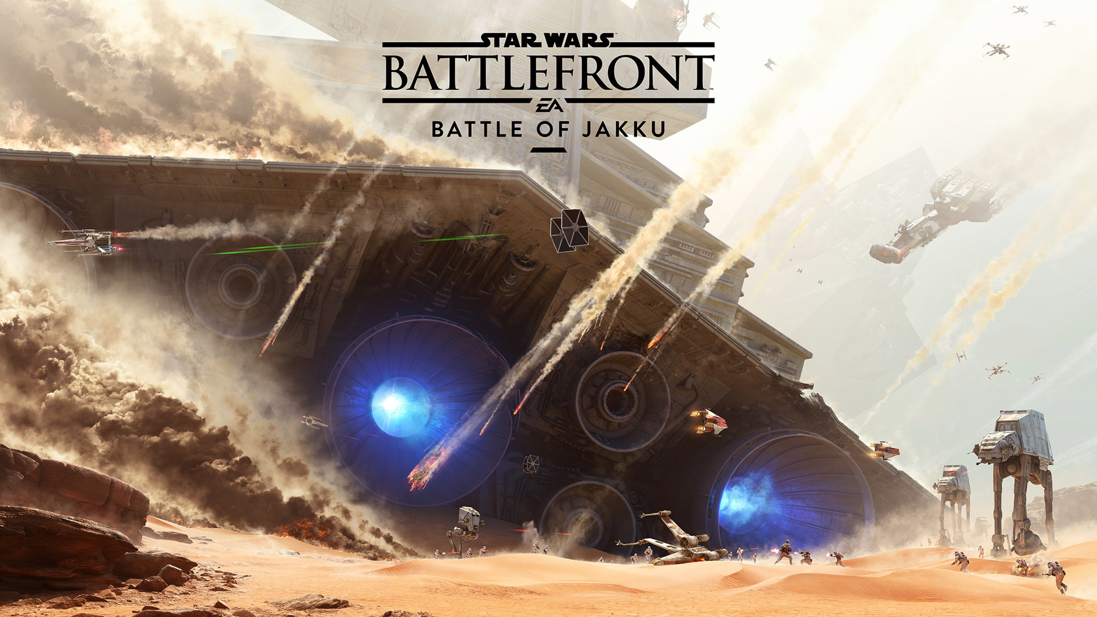 3840x2160  Wallpaper star wars, battlefront, battle of jakku