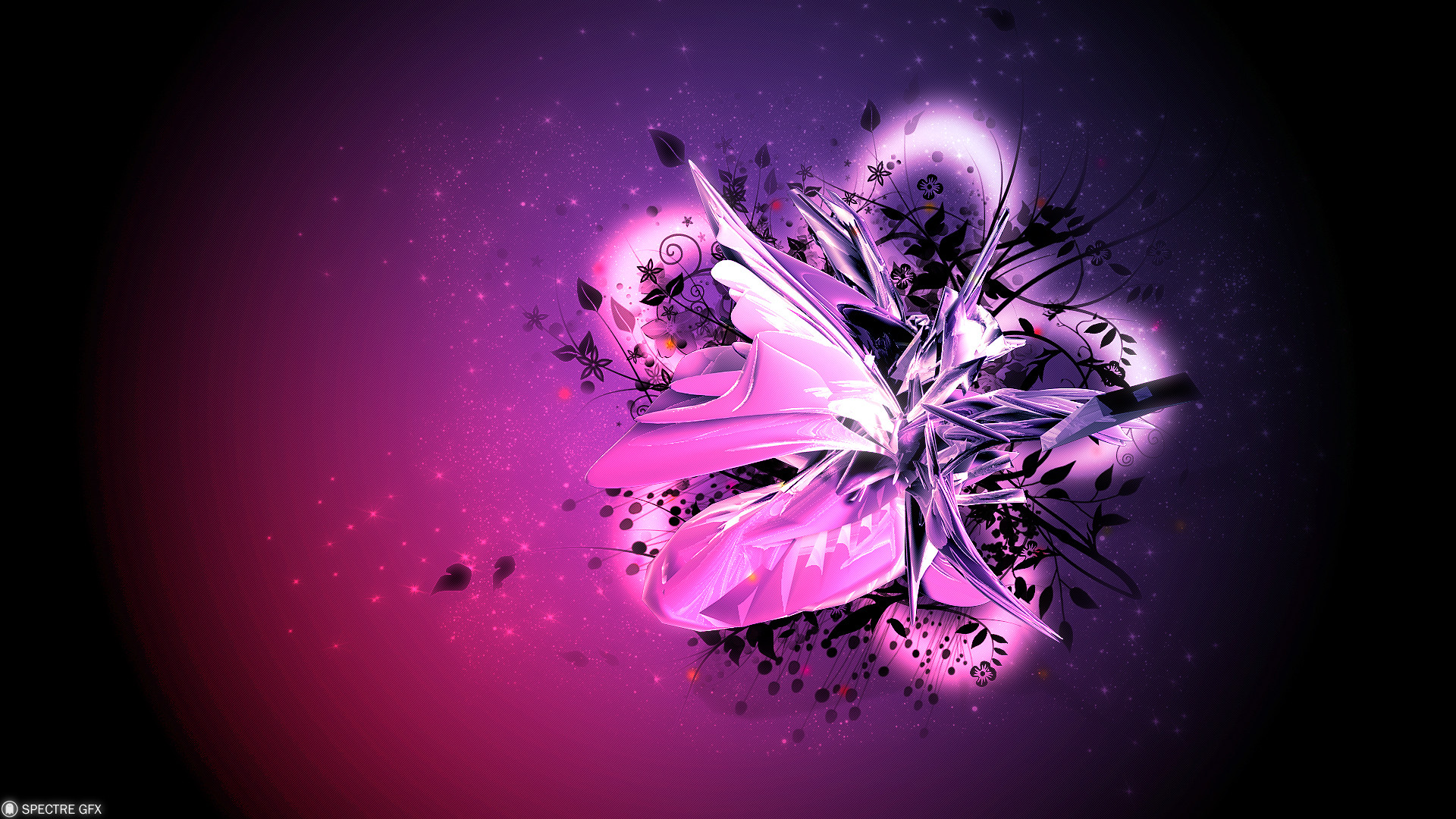 1920x1080 Cool 3d Abstract Widescreen Hd Wallpaper Amazing Wallpaperz Black And  Purple Wallpapers For Laptops
