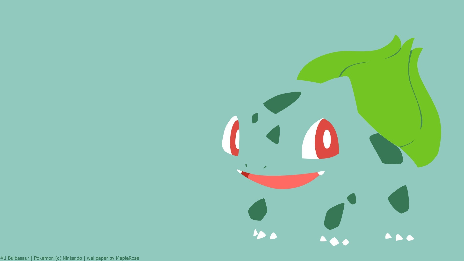 1920x1080 ... Background Full HD 1080p.  Wallpaper bulbasaur, pokemon,  drawing