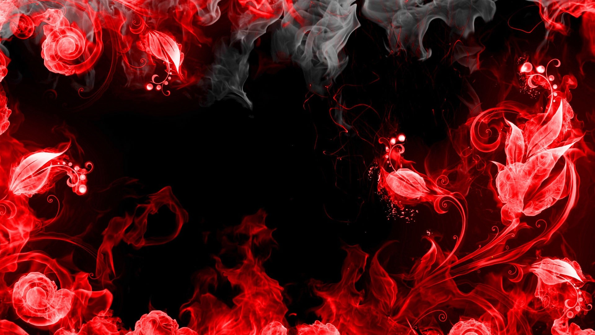 1920x1080 Preview wallpaper abstraction, red, smoke, black