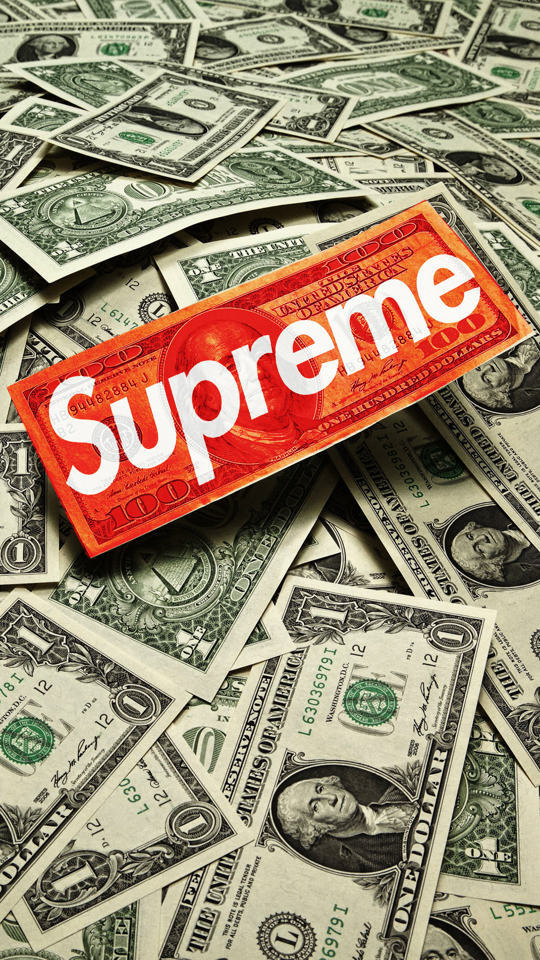1080x1920 Download Supreme Cash Download Wallpaper. iPhone 6 (750x1134) · iPhone 6+  () ...