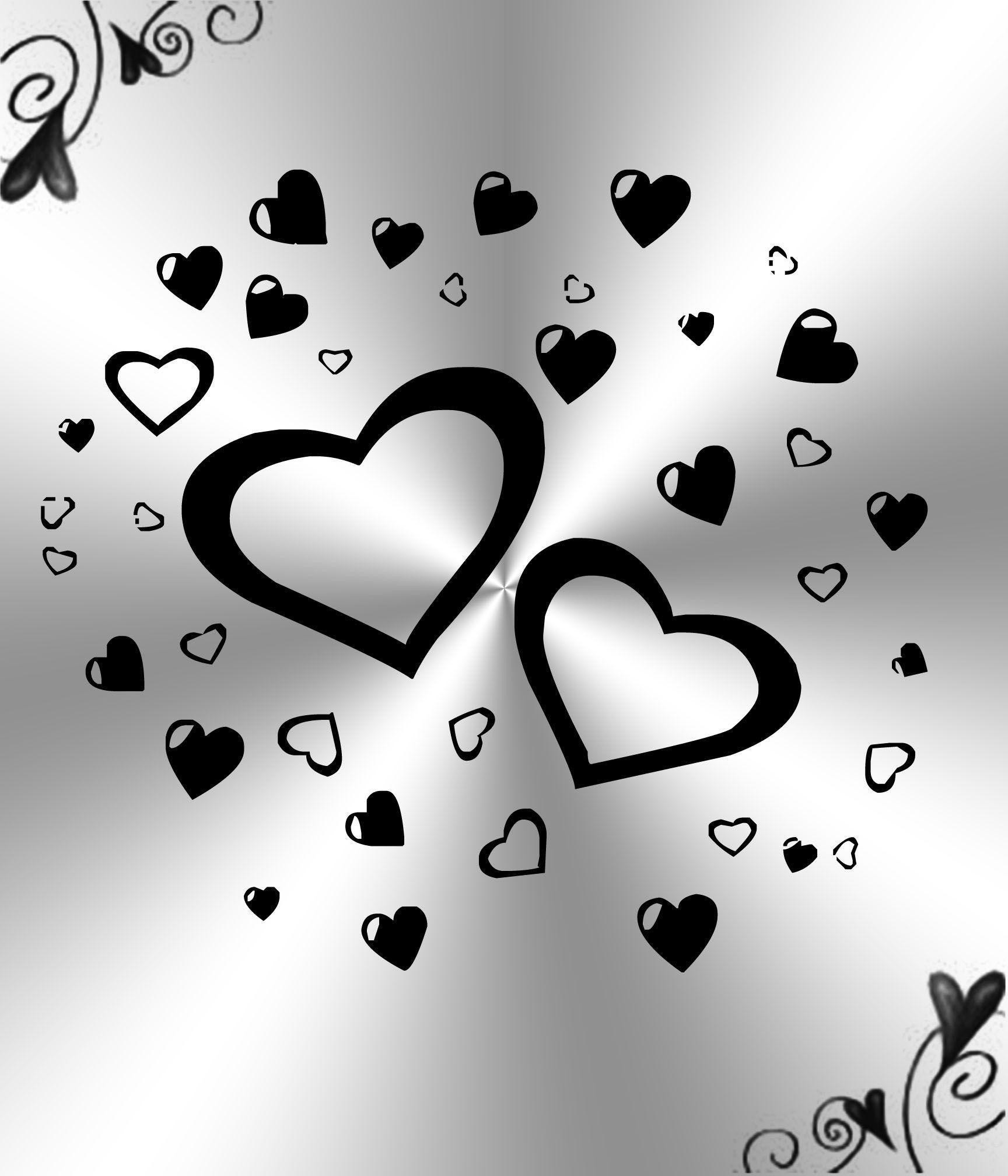 1728x2016 White And Black Hearts Background by Princessdawn755 on DeviantArt