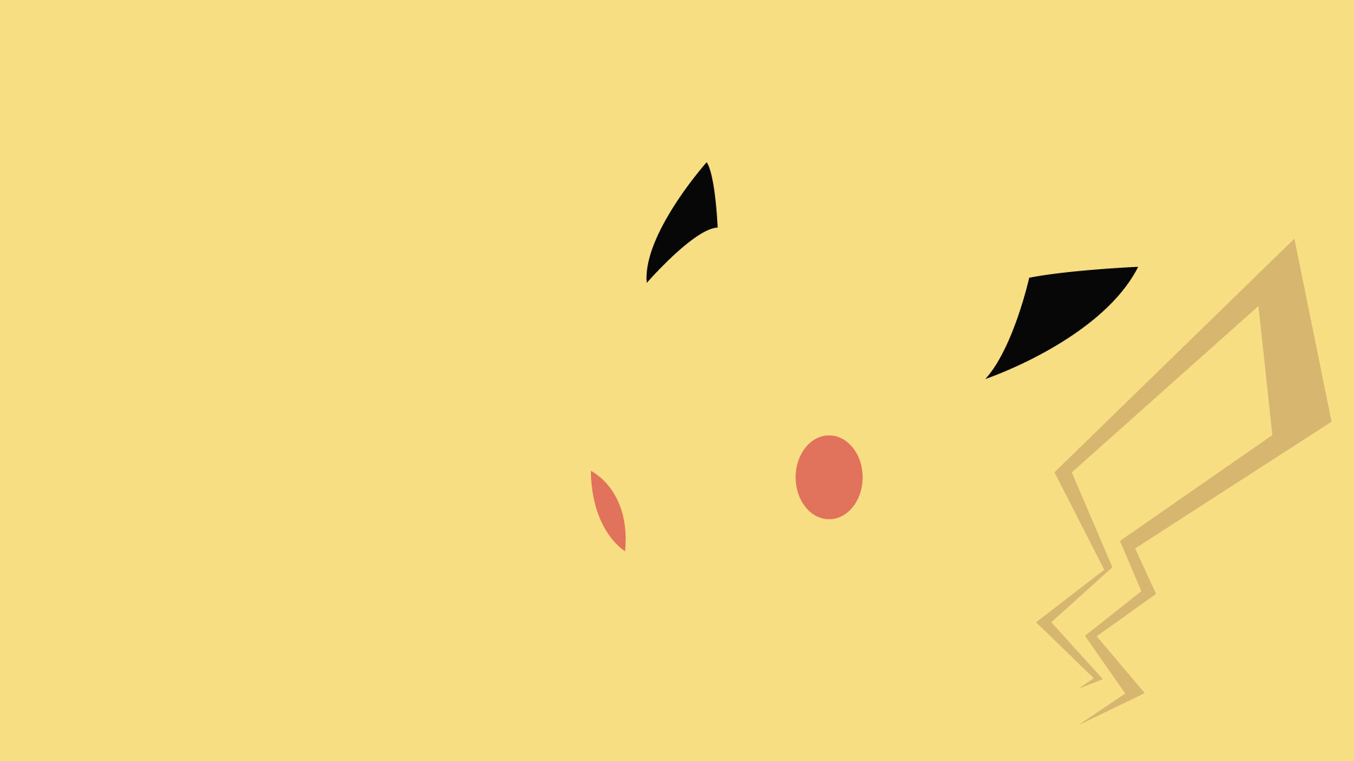 1920x1080 Awesome minimalist Pikachu wallpaper. There is a whole collection of them  at the linked site