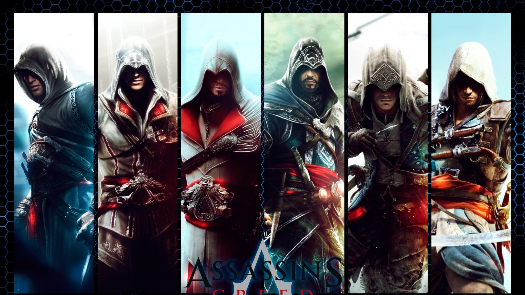 Video Game Character Collage Wallpaper 2048x1152 Gamin...