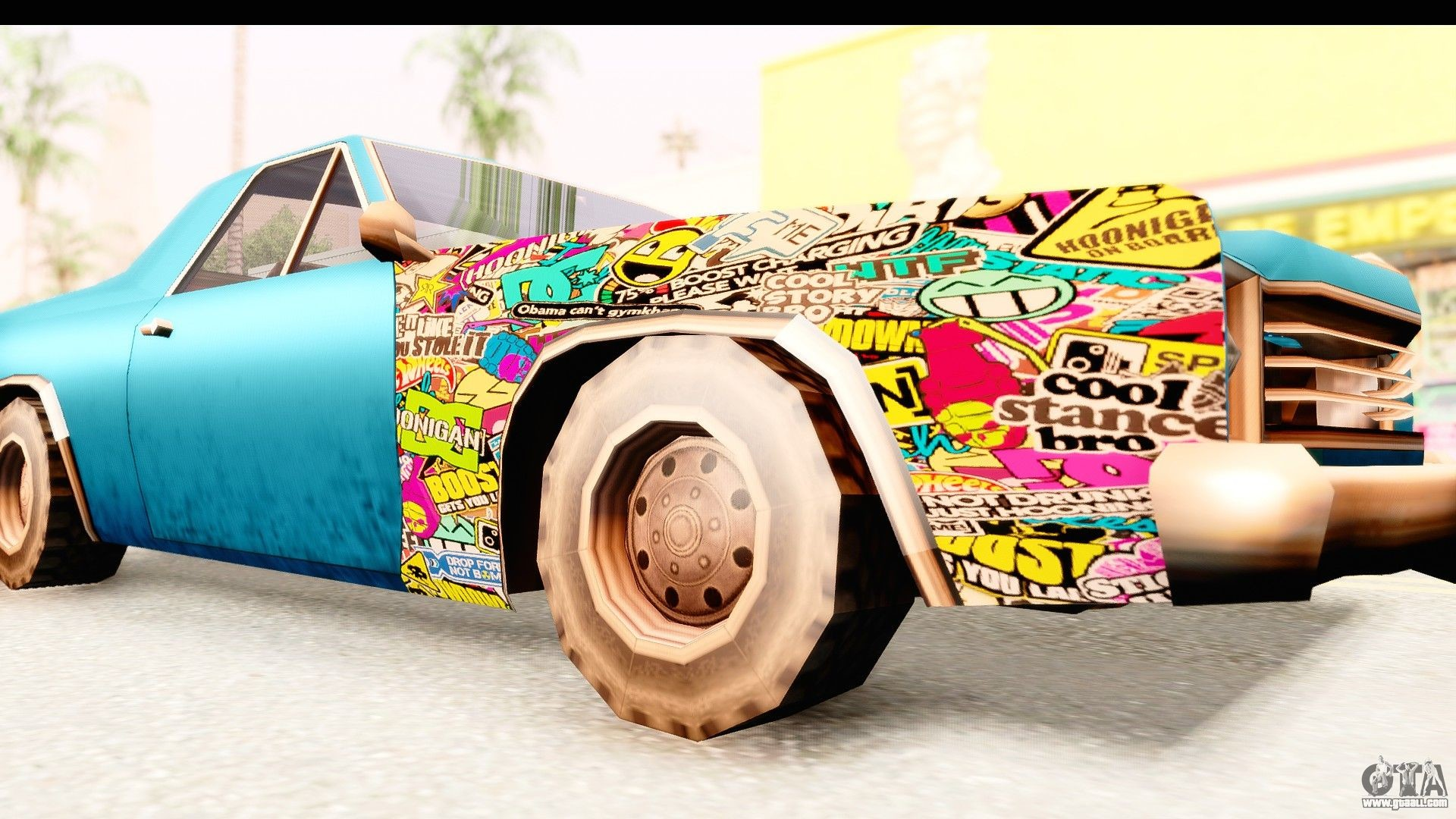 1920x1080 Picador Sticker Bomb for GTA San Andreas back view .