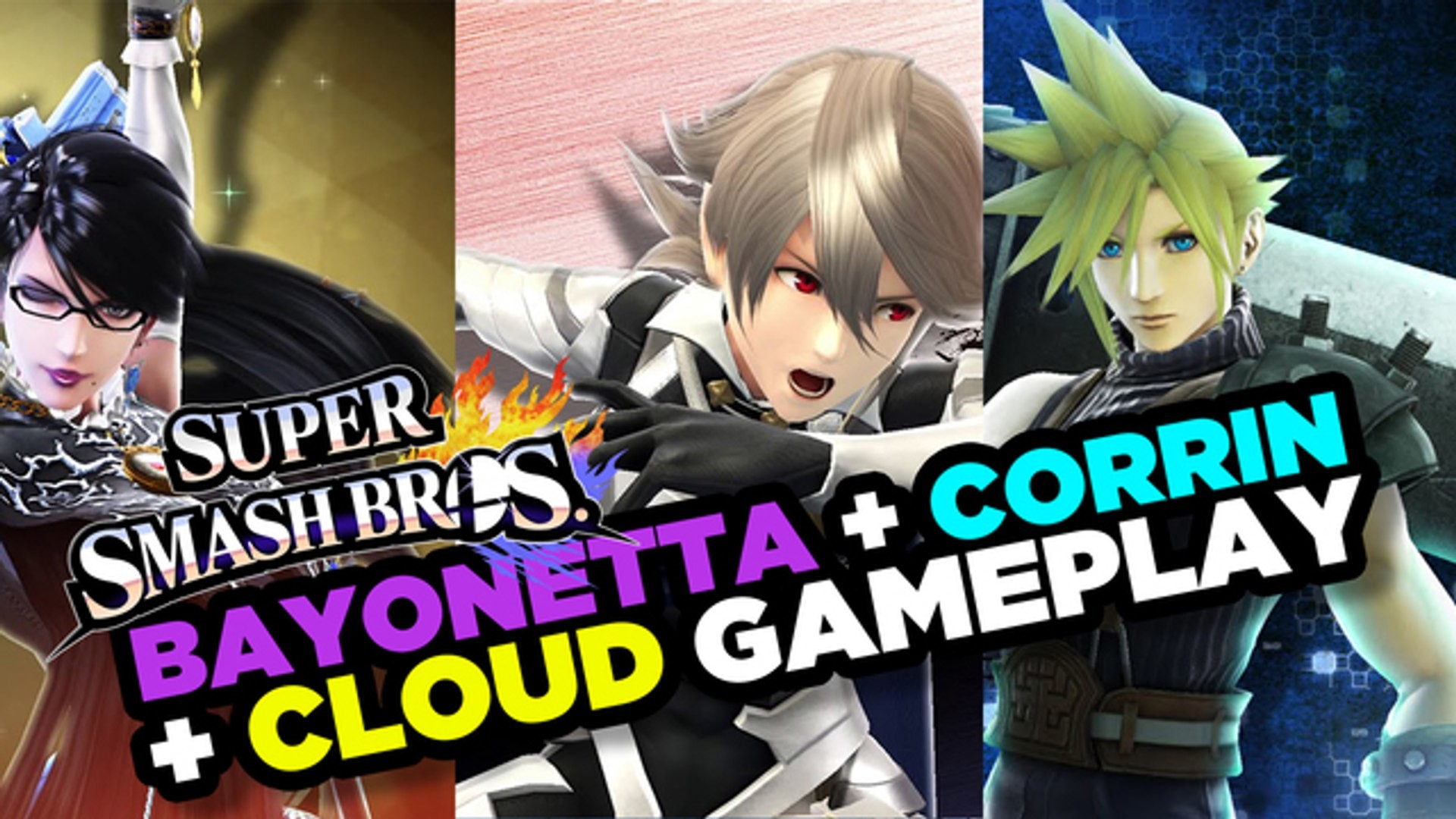 1920x1080 Bayonetta, Corrin, and Cloud Battle it Out - Super Smash Bros. Gameplay -  video dailymotion