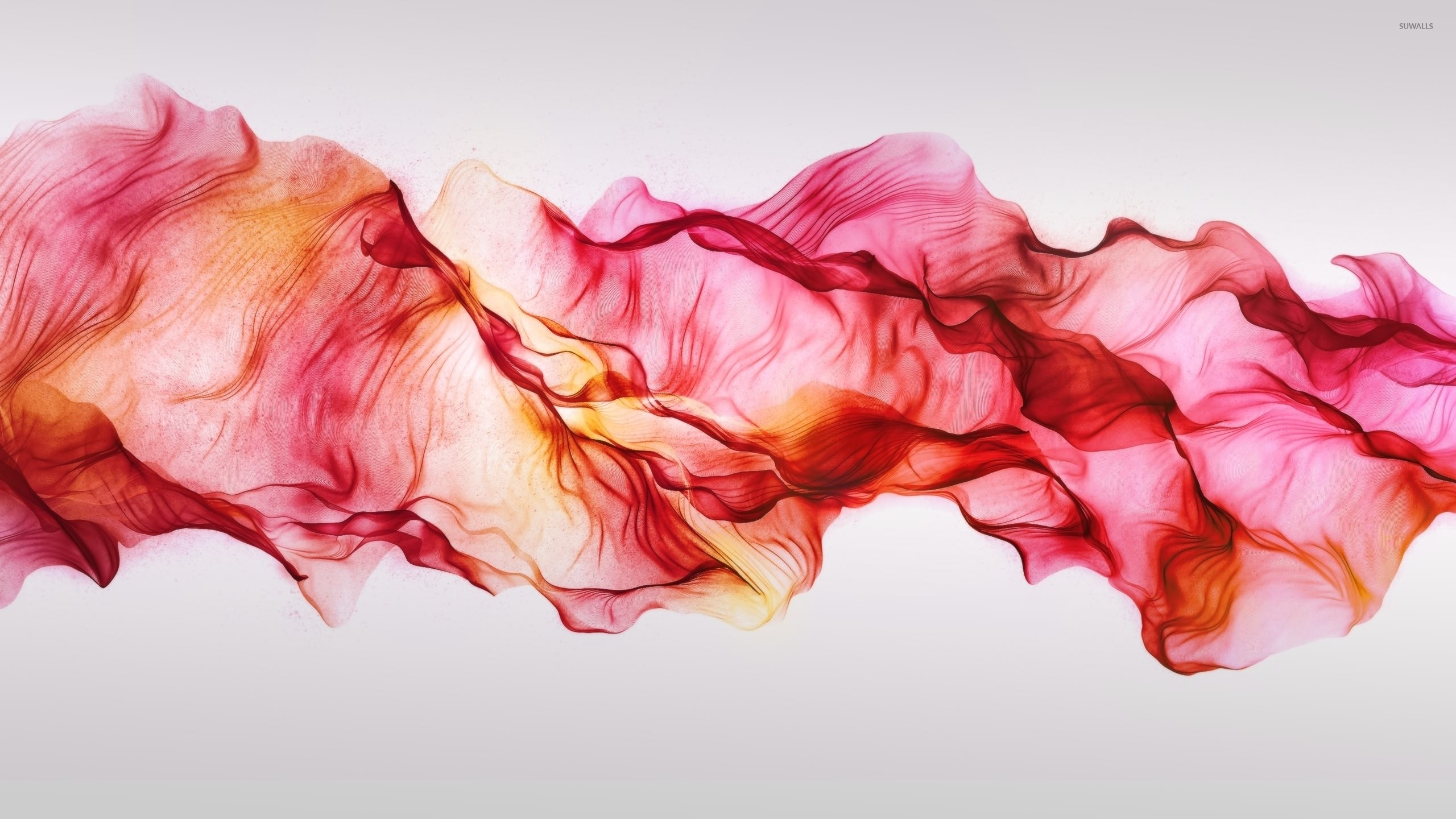 2560x1440 Red smoke mixing in the air wallpaper  jpg