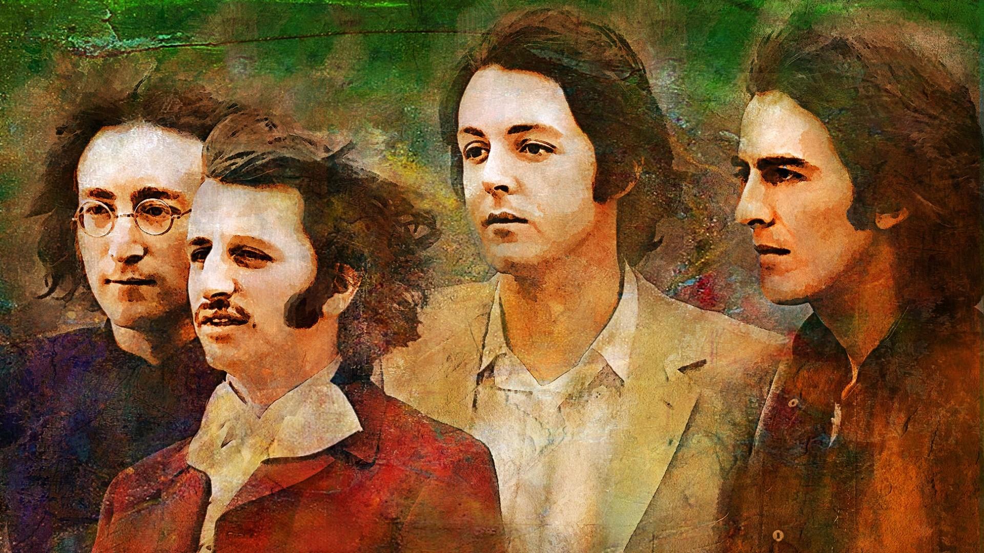 1920x1080 Preview Wallpaper The Beatles John Lennon Paul Mccartney George Harrison Ringo