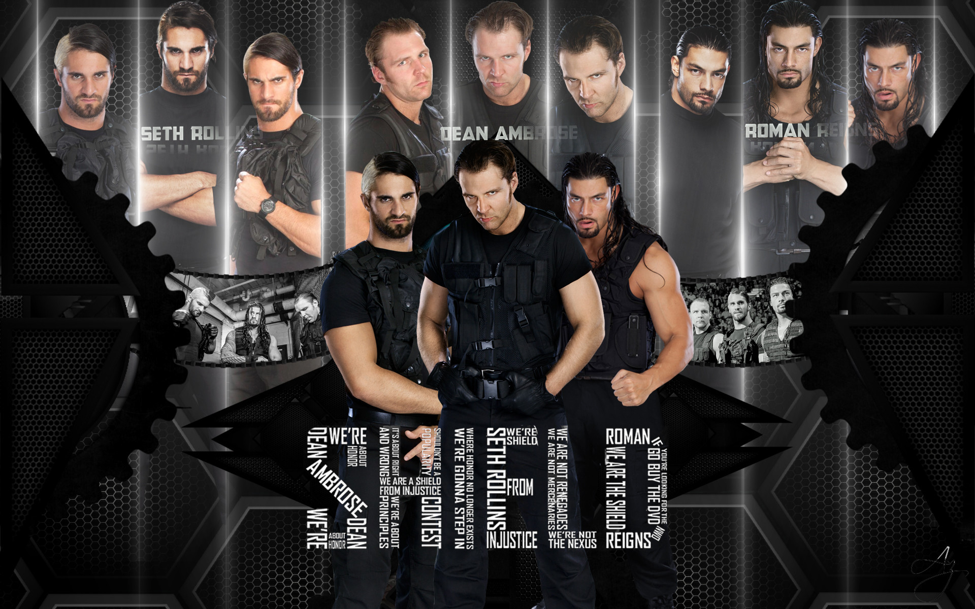 the shield wwe iphone wallpaper 2017
