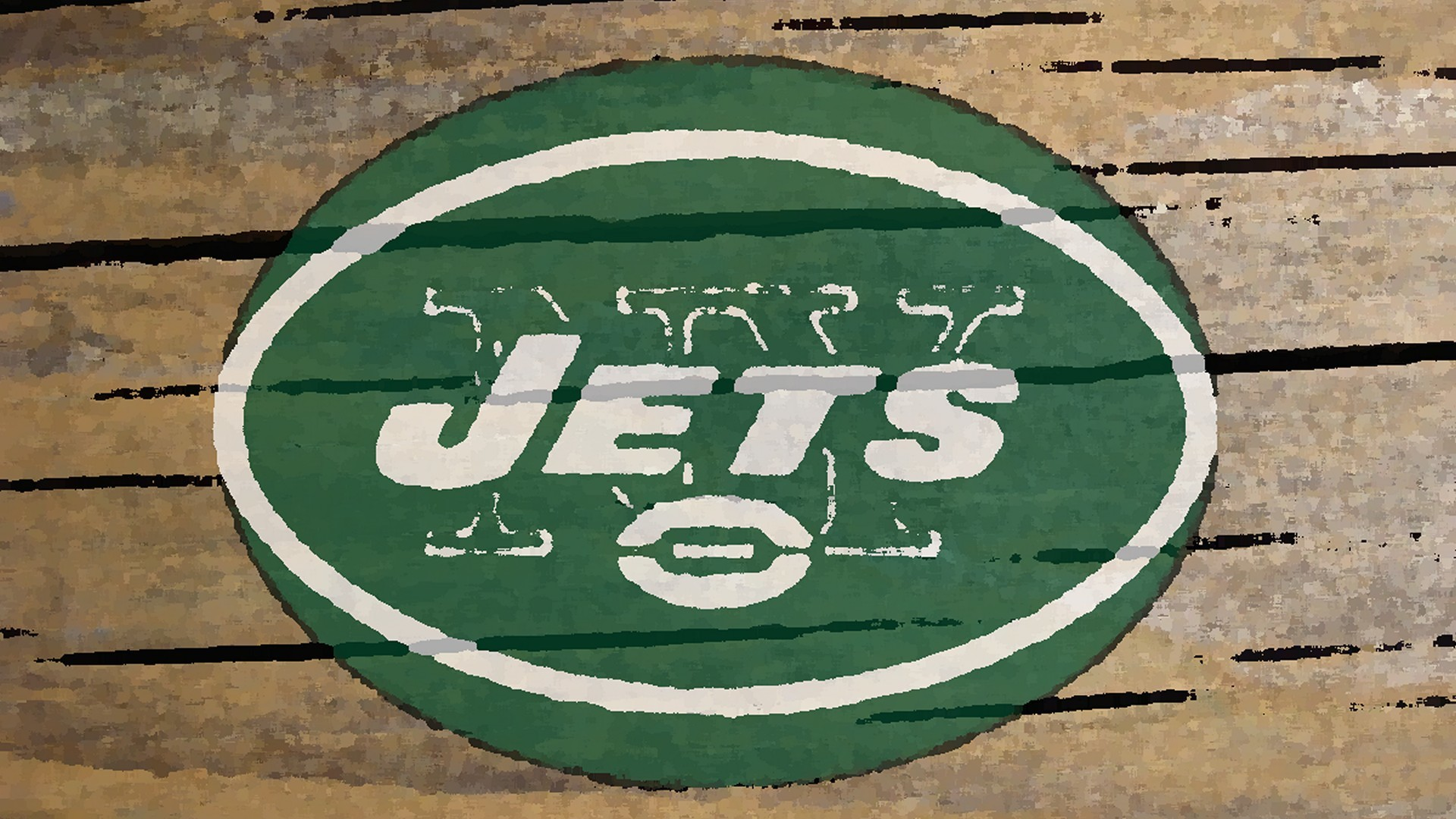 1920x1080 new york jets logo painted on wood
