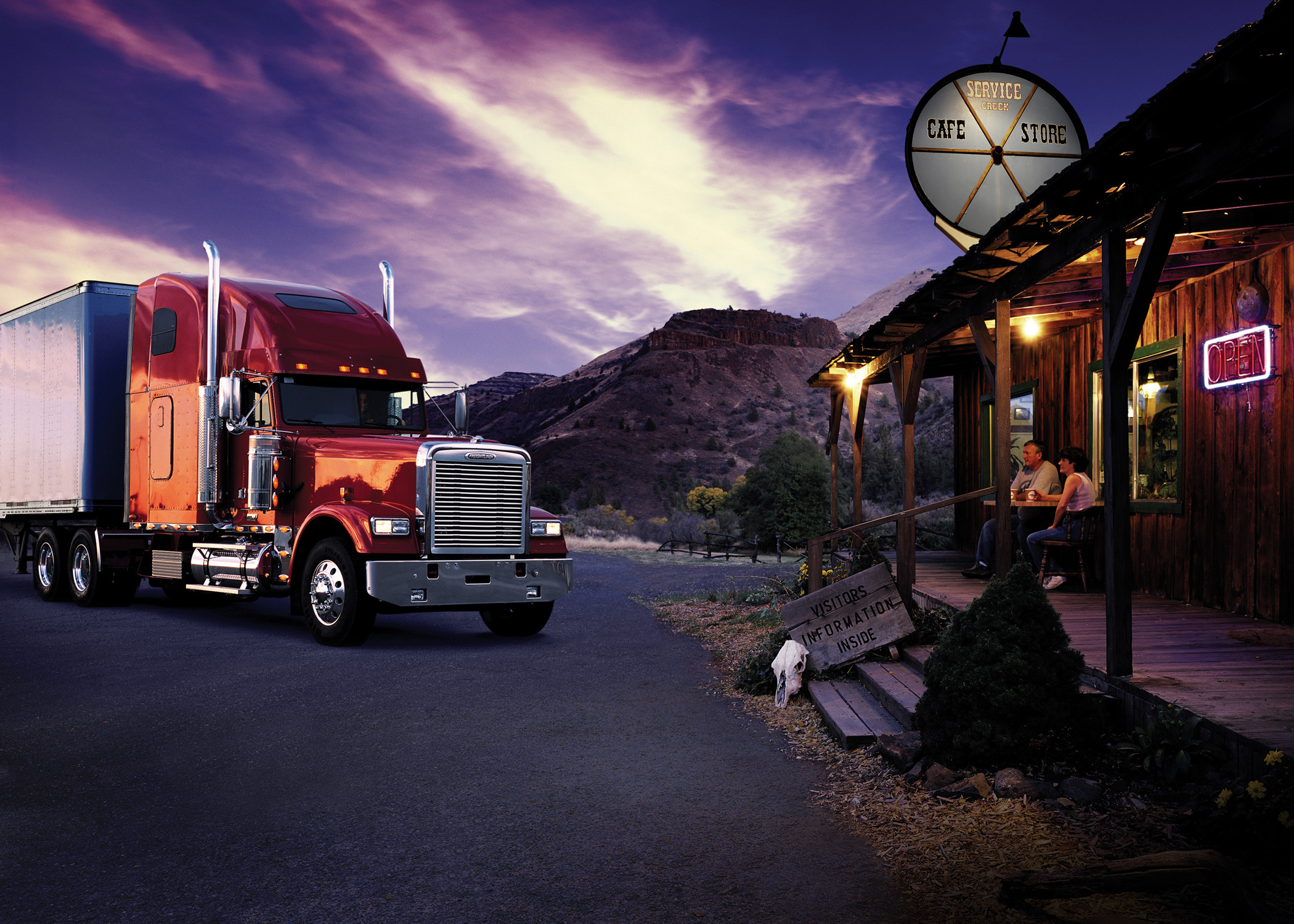 2100x1500 freightliner semi tractor trucks wallpaper background