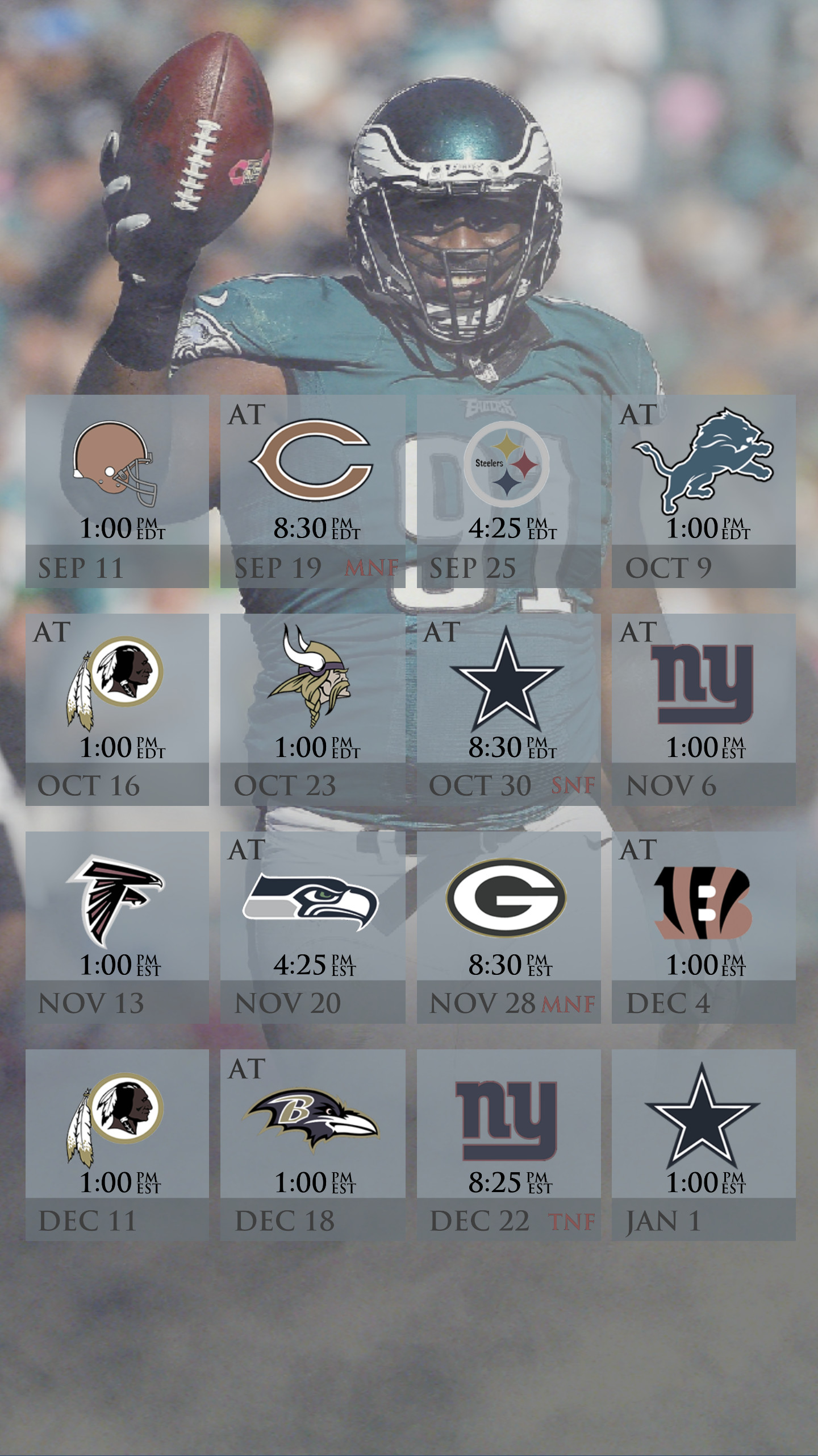 1440x2560 Eagles Schedule Mobile Wallpaper (2016) ...