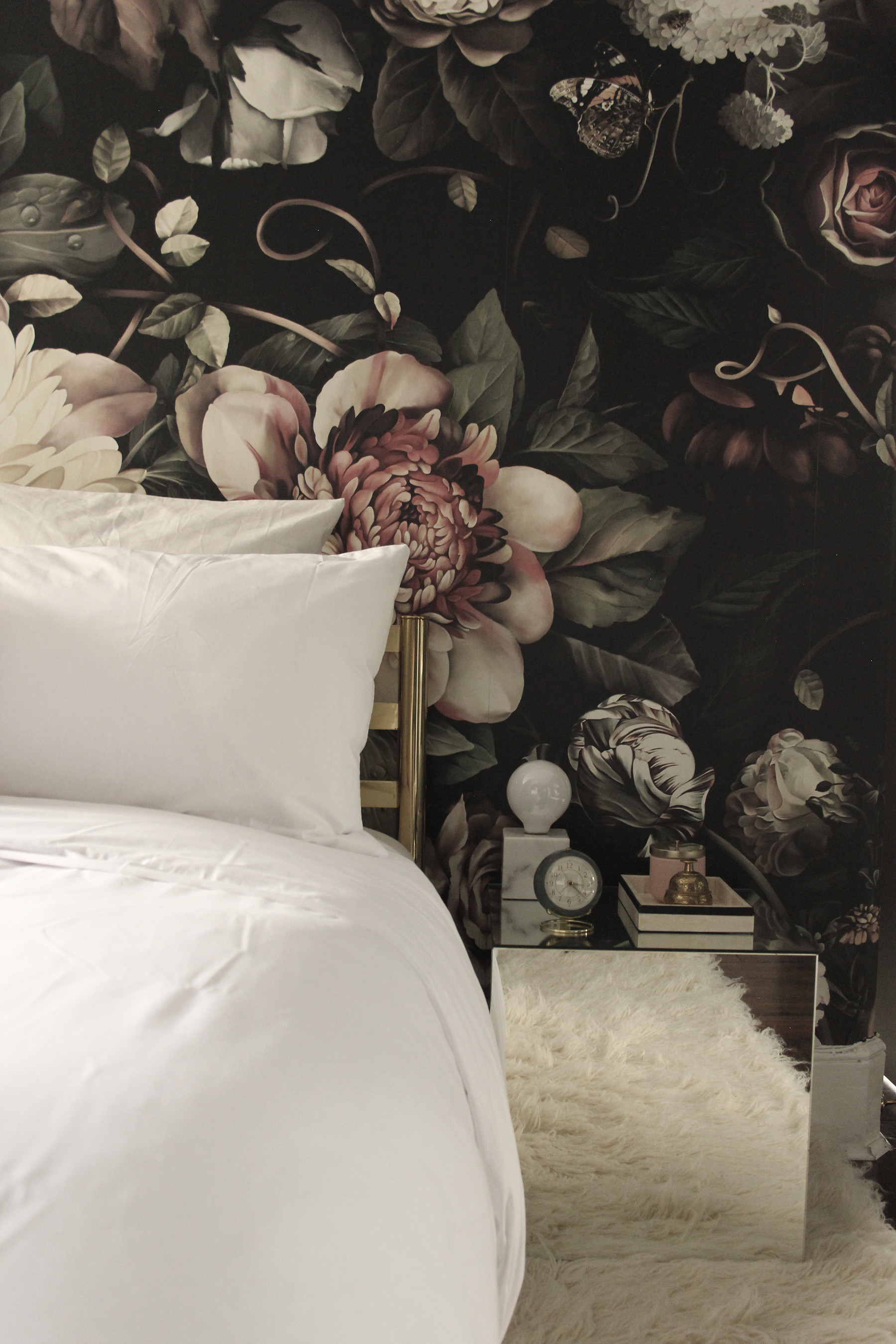 1800x2700 Preciously Me blog : One Room Challenge - Bedroom makeover reveal. Ellie  Cashman Dark Floral