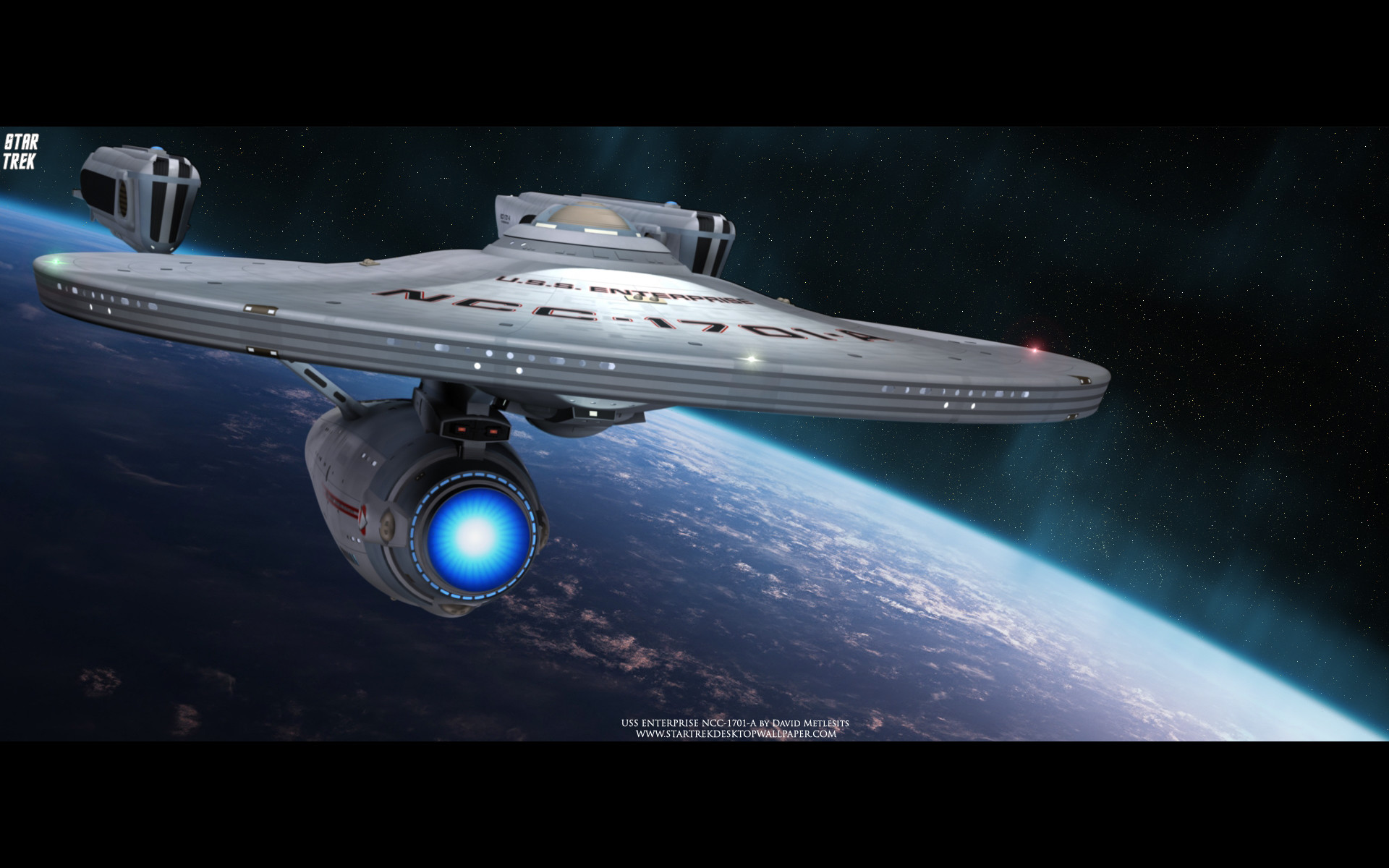 1920x1200 Star Trek USS Enterprise NCC-1701-A - free Star Trek computer desktop