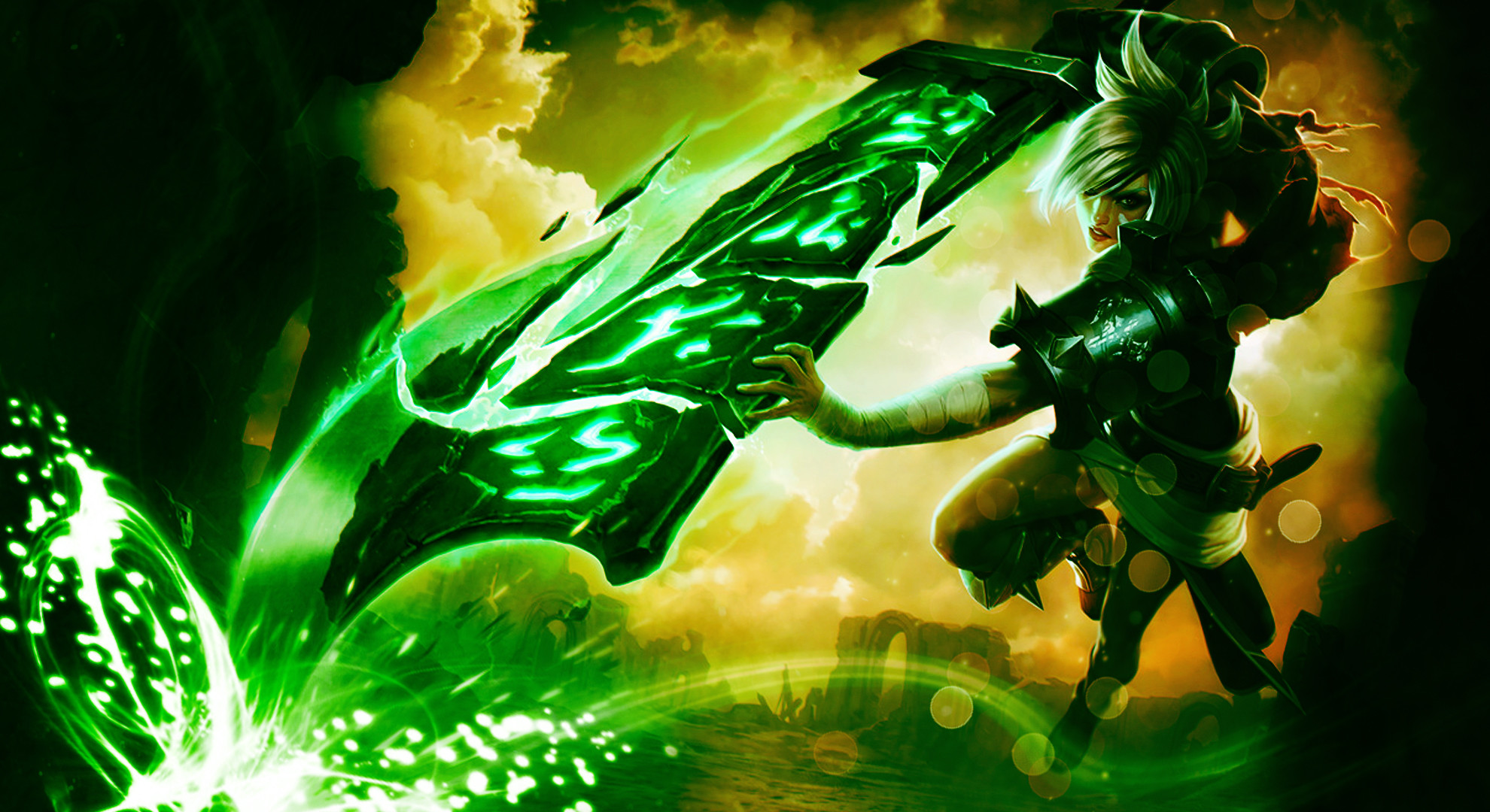 1980x1080 Riven Wallpaper - NEW Splash Art Edit by TheLtColonel on .